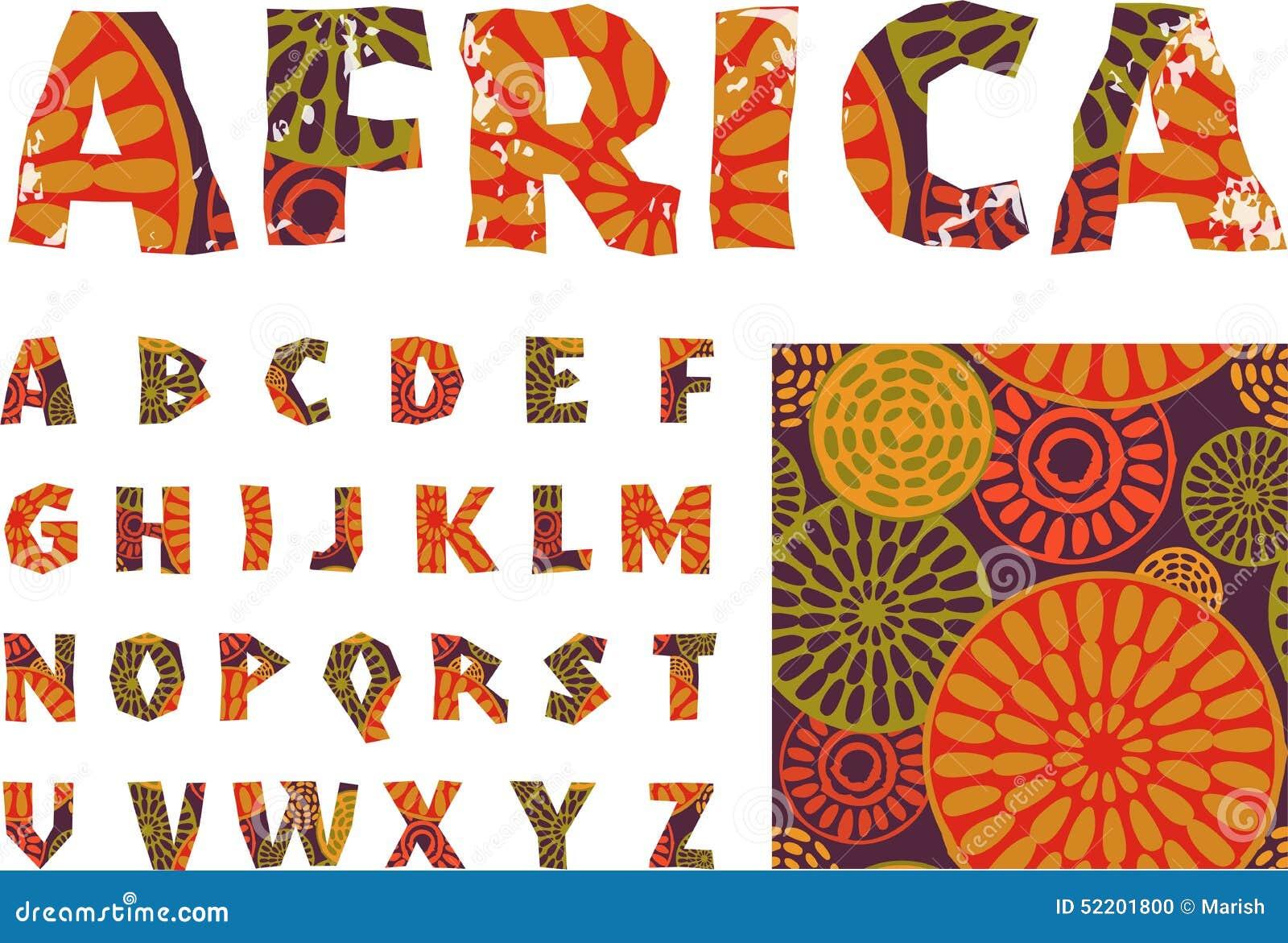 Afryka - abecadło i wzór
