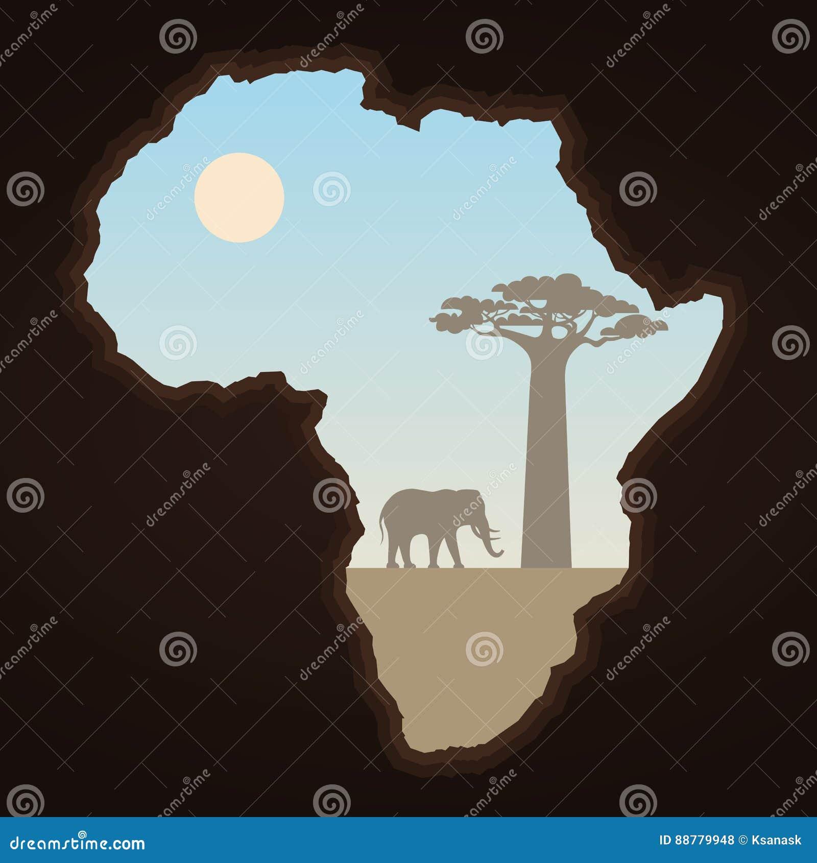 Afryka krajobraz i kontynent