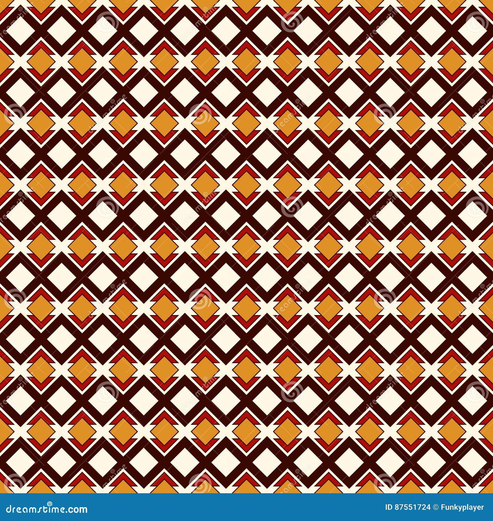 Afrykanina stylowy bezszwowy wzór z geometrycznymi postaciami Częstotliwy diamentowy ornamentacyjny abstrakcjonistyczny tło Etnic