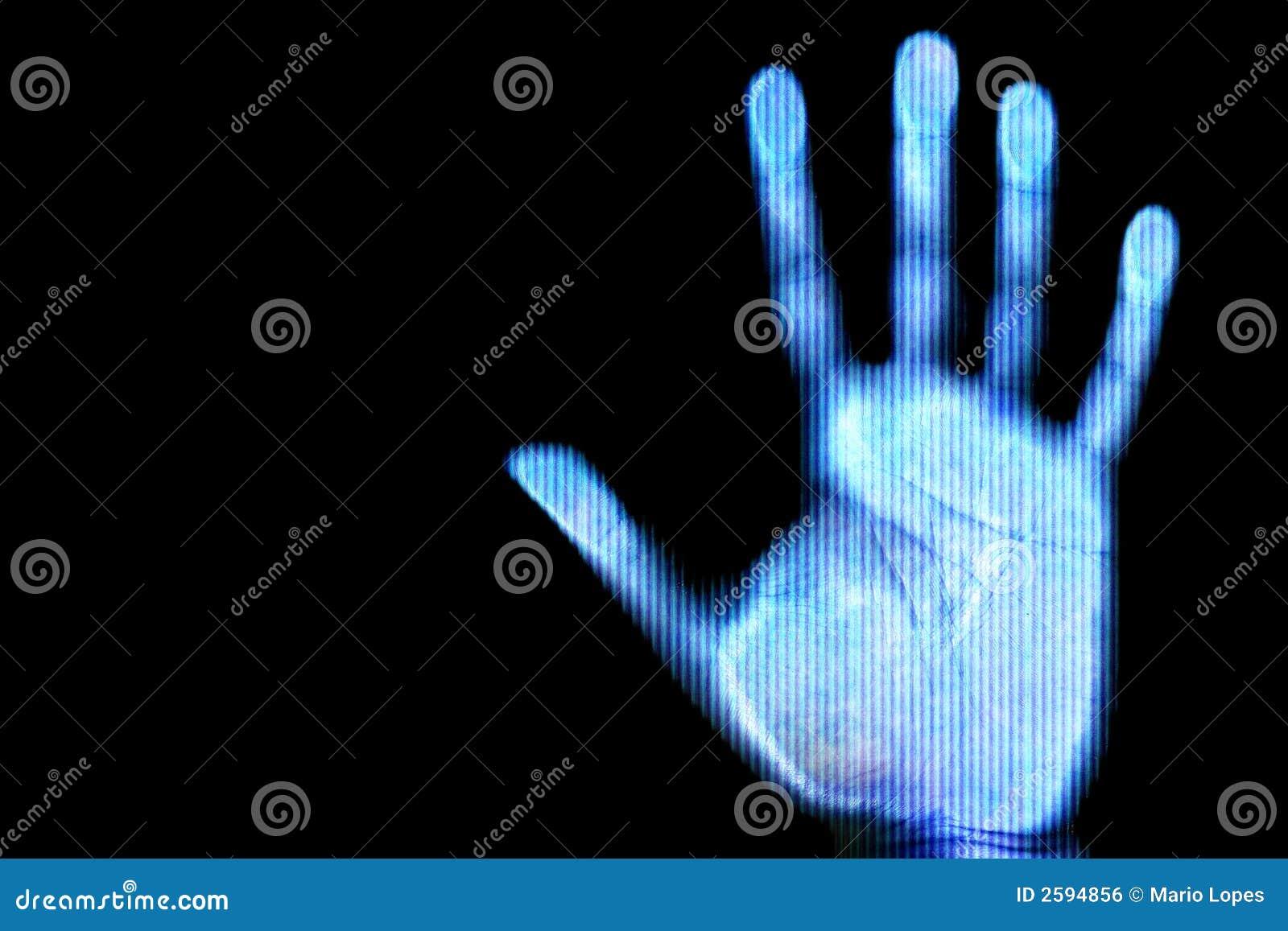 Aftasten van menselijke hand