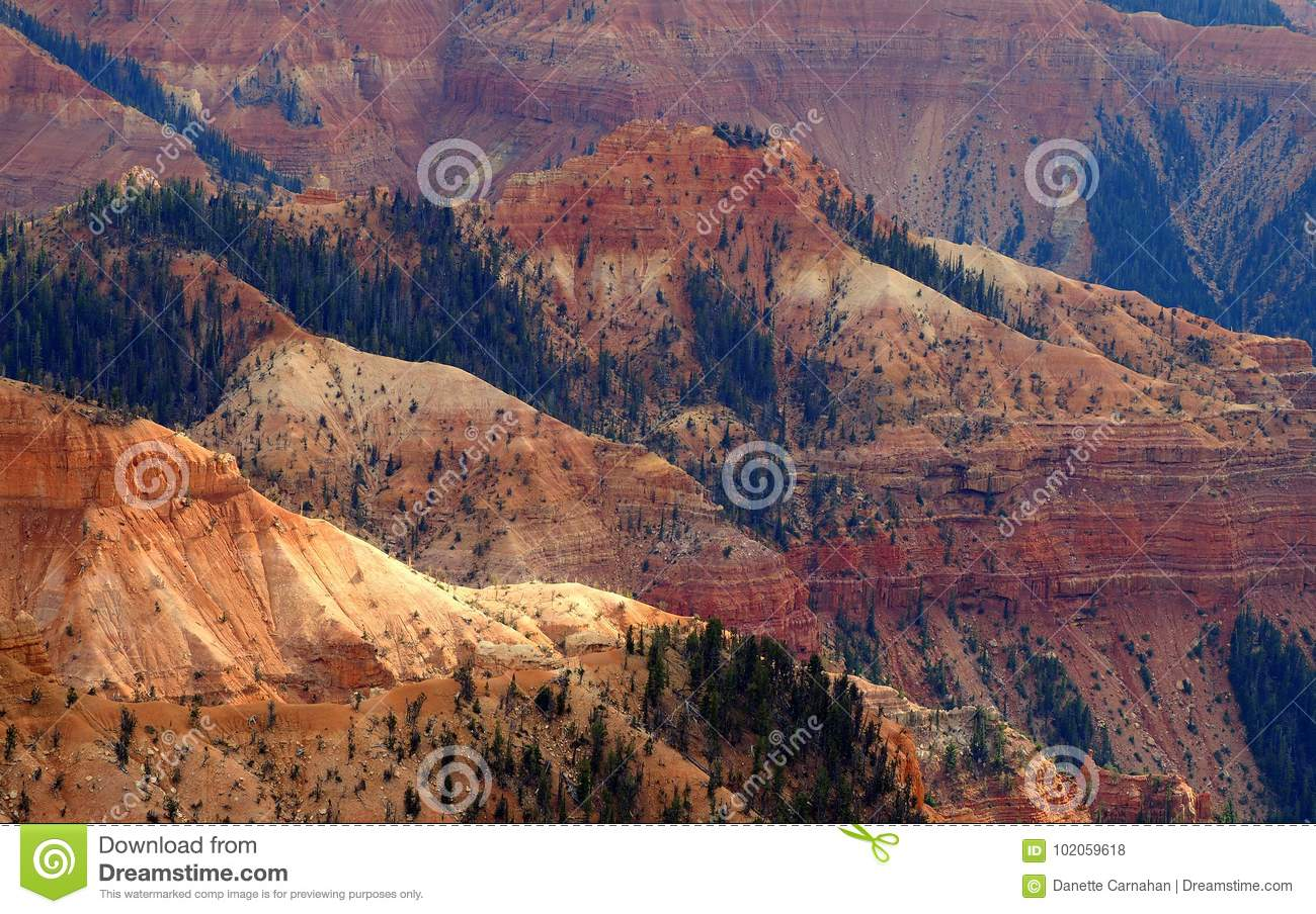Afternoon Glow of the Cedar Breaks National Monument Amphitheater