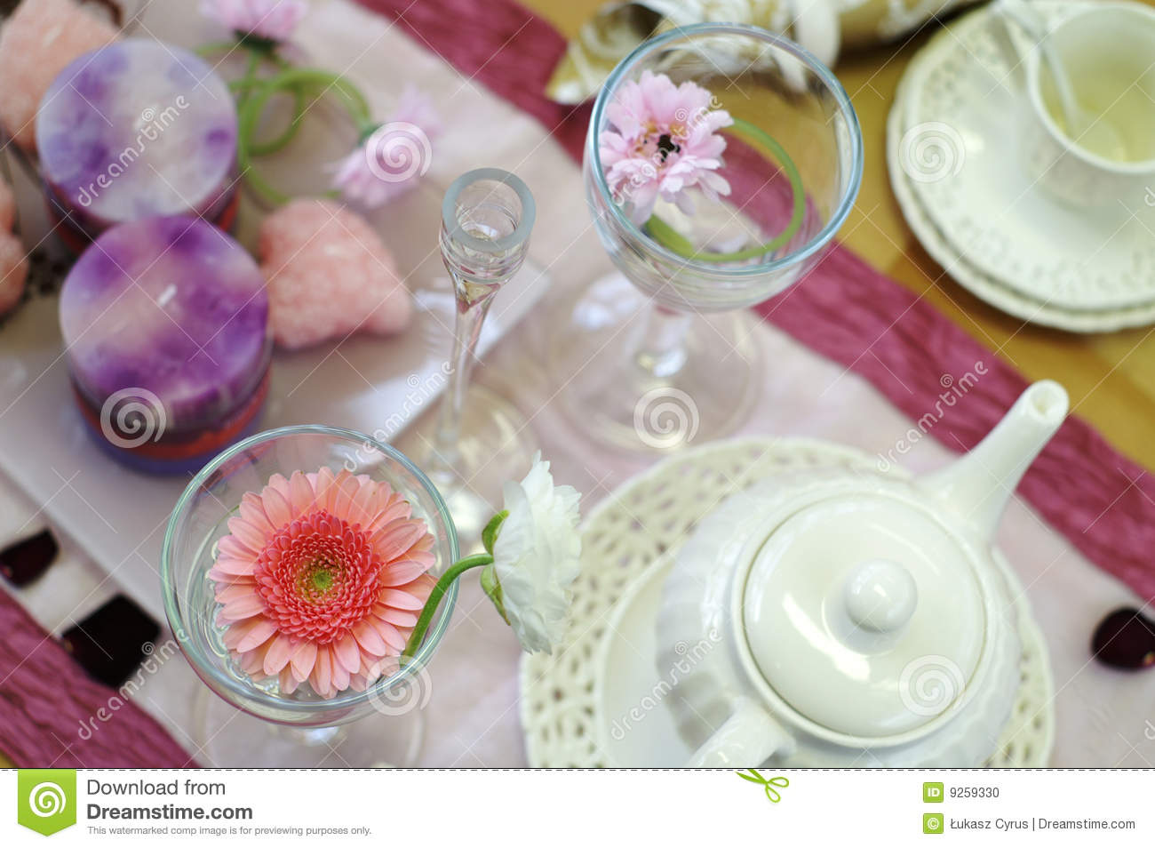 Afternoon Tea Table Setting Stock Photo Image 9259330