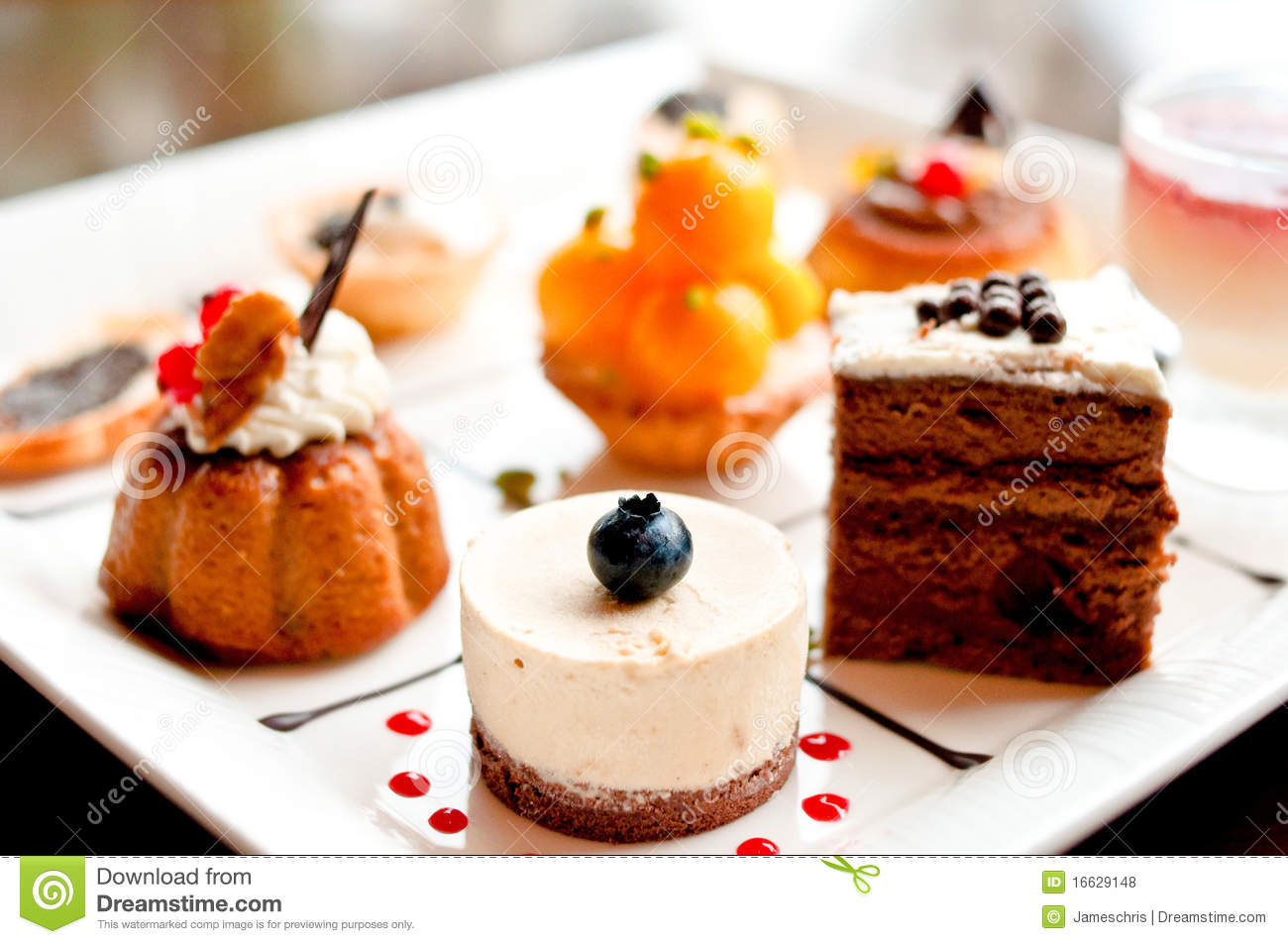 Afternoon Tea Time With Cakes Royalty Free Stock Photos