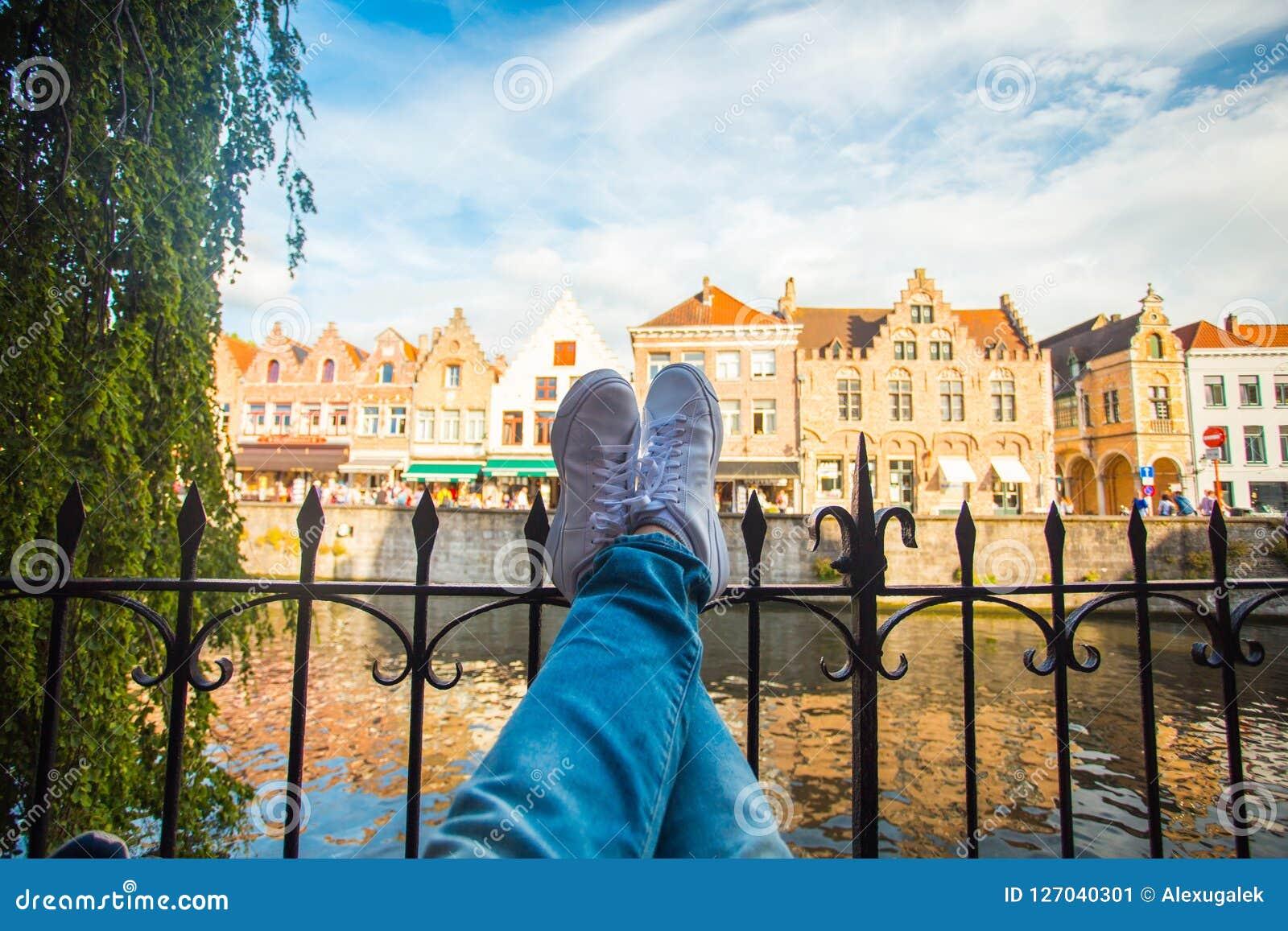 Afton i Brugge