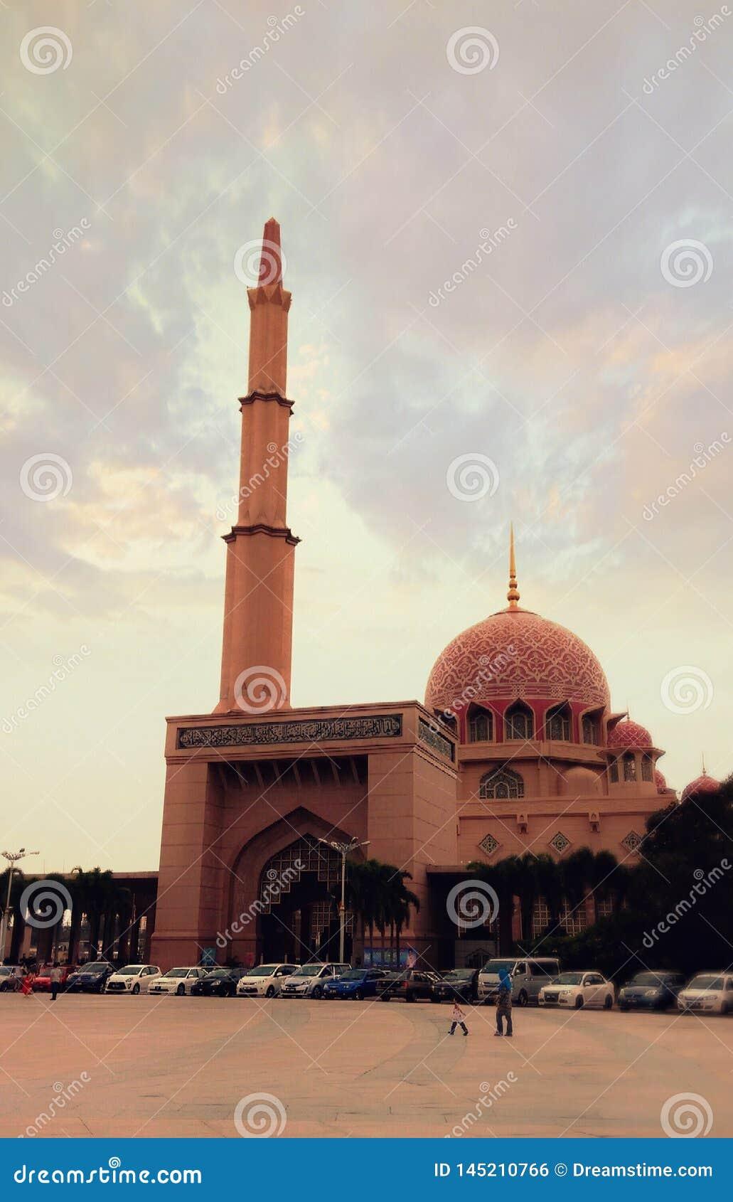 Aftonsikt av Masjid i Malaysia