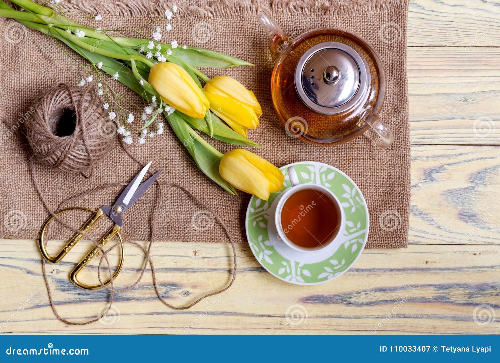 Aftreksel en tulpen