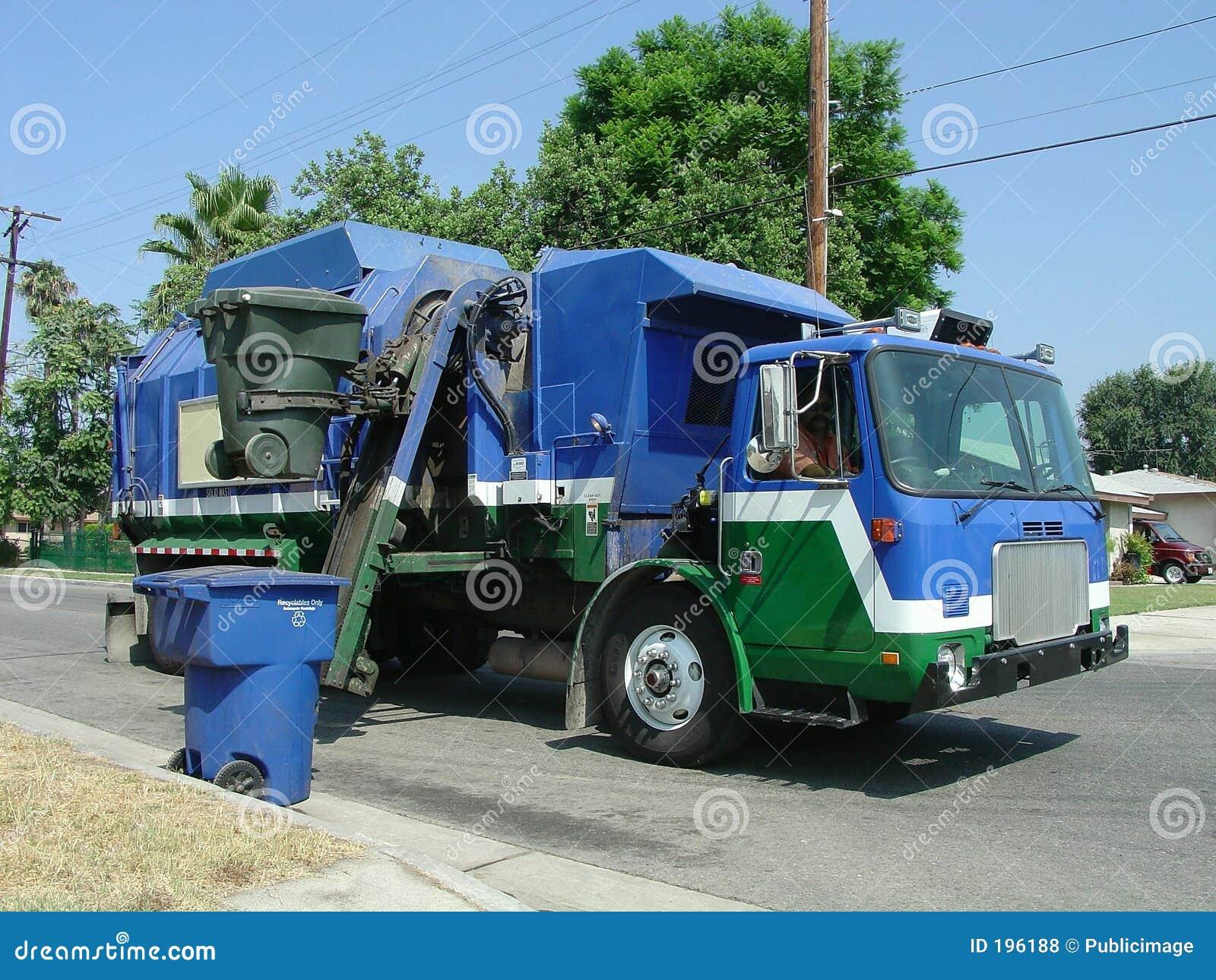 Afval en de Vrachtwagen van het Recycling
