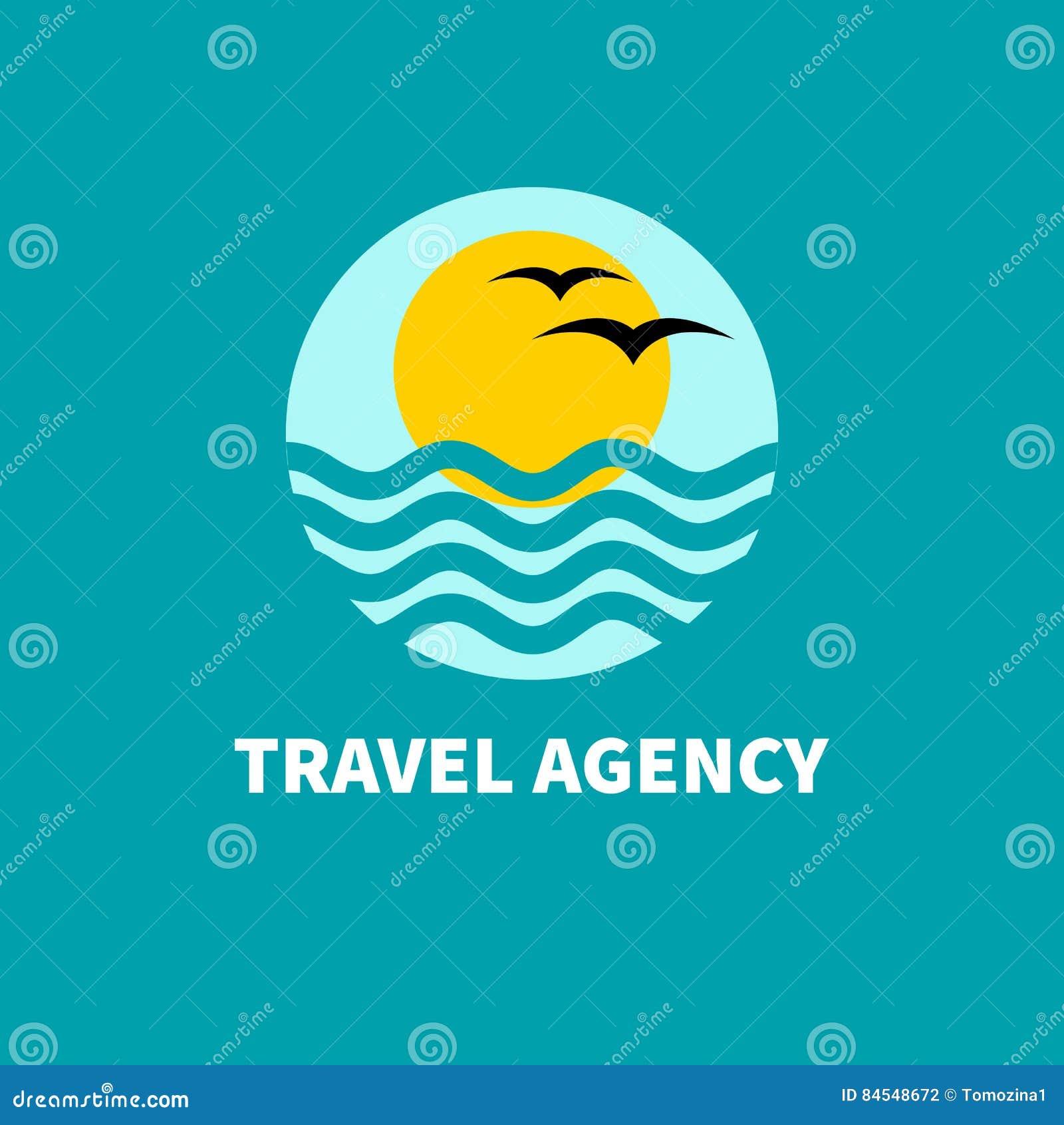Agência de viagens do logotipo