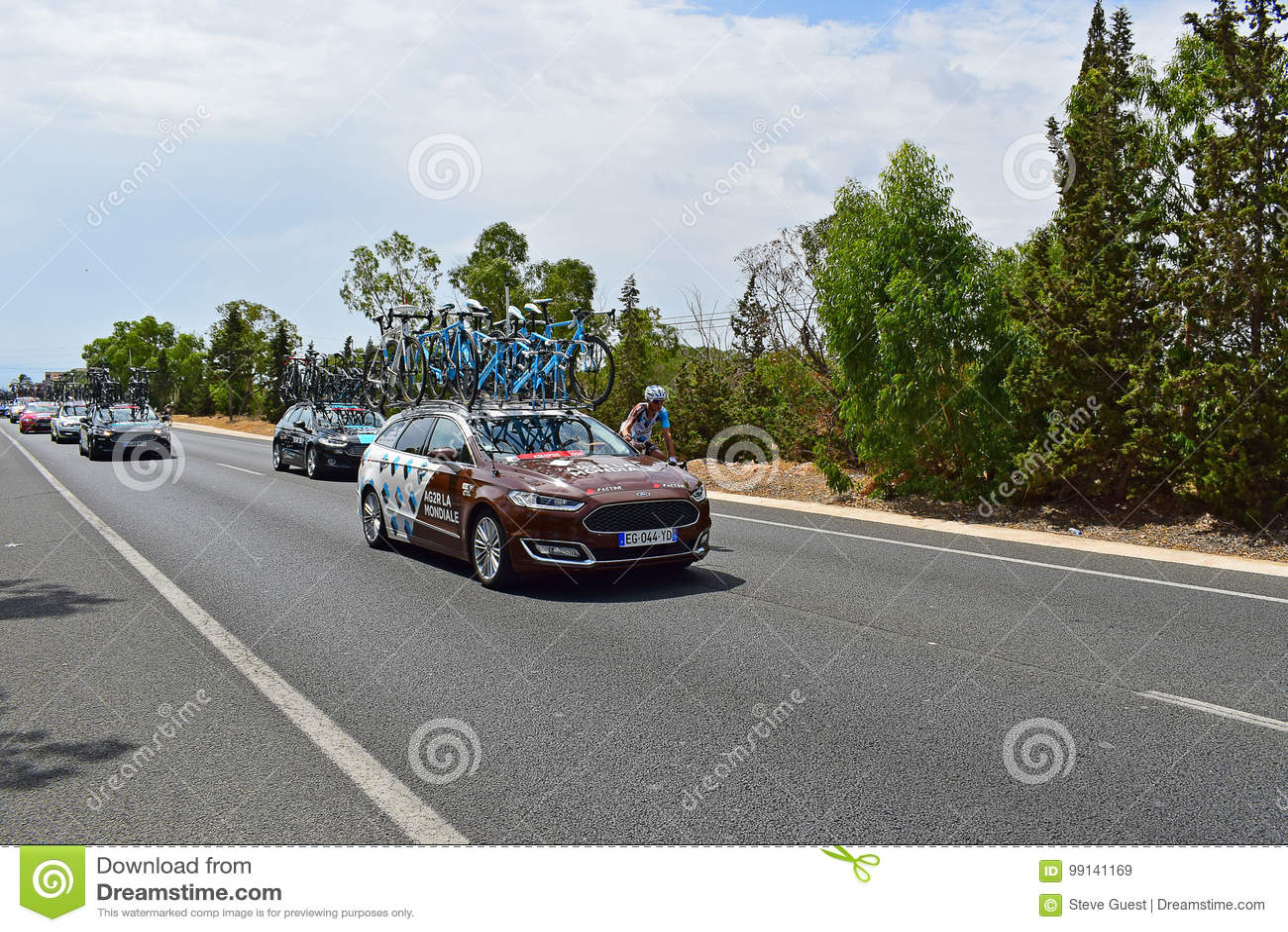 AG2R La Mondiale Car And Rider La Vuelta España