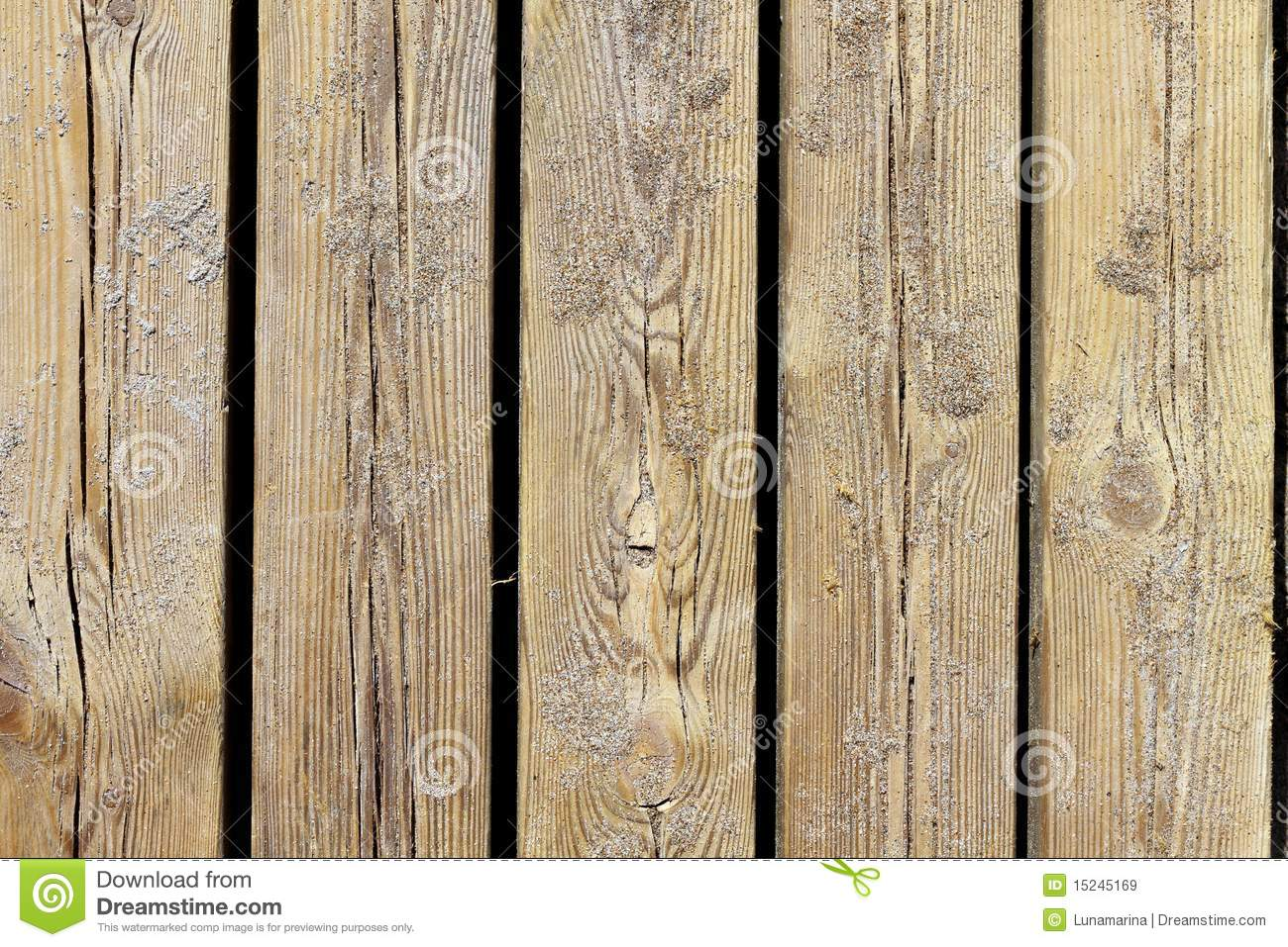 Aged Beach Wood Texture Macro Detail With Sand Stock Image