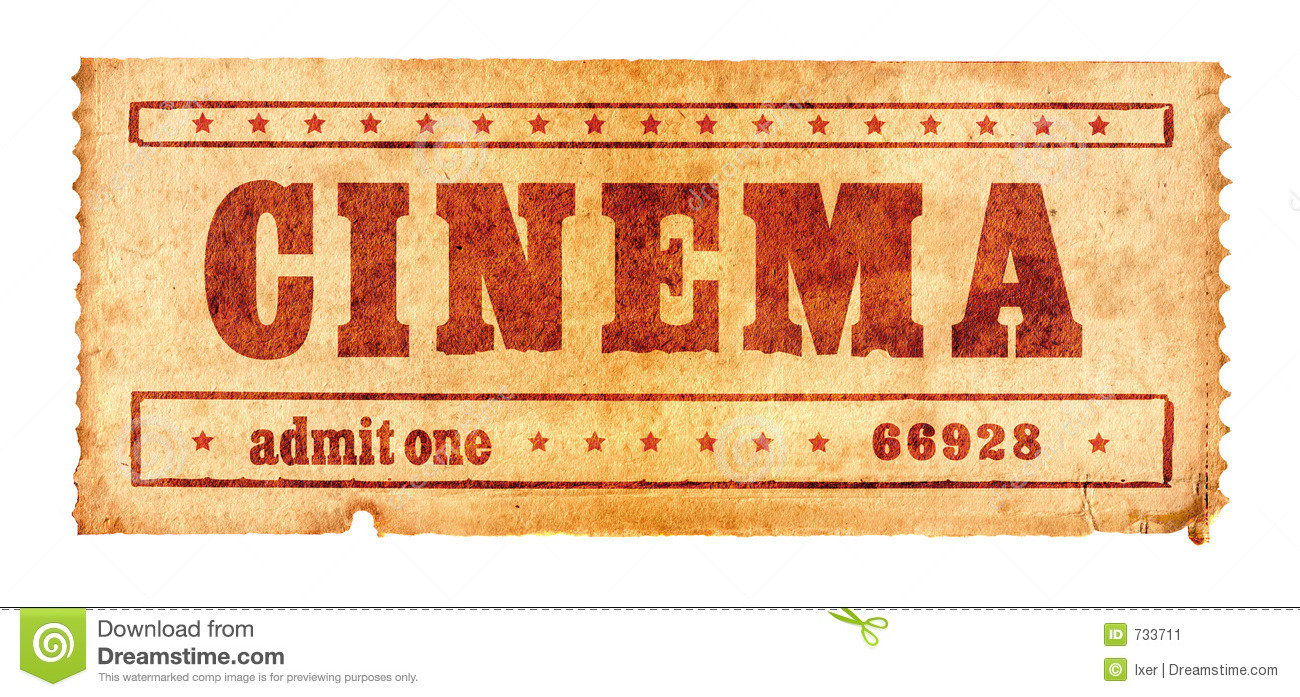 Aged Cinema Ticket 2 Stock Image Image Of Action Fade