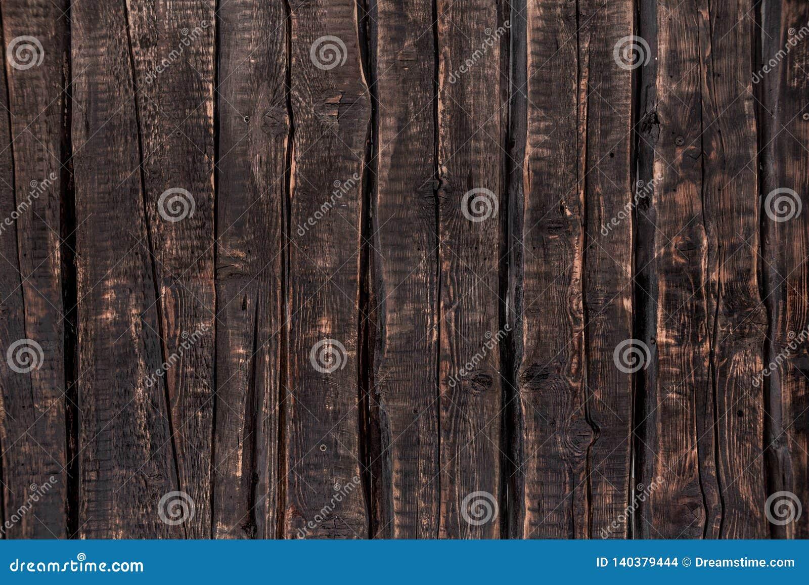 Dark wooden background, rough texture