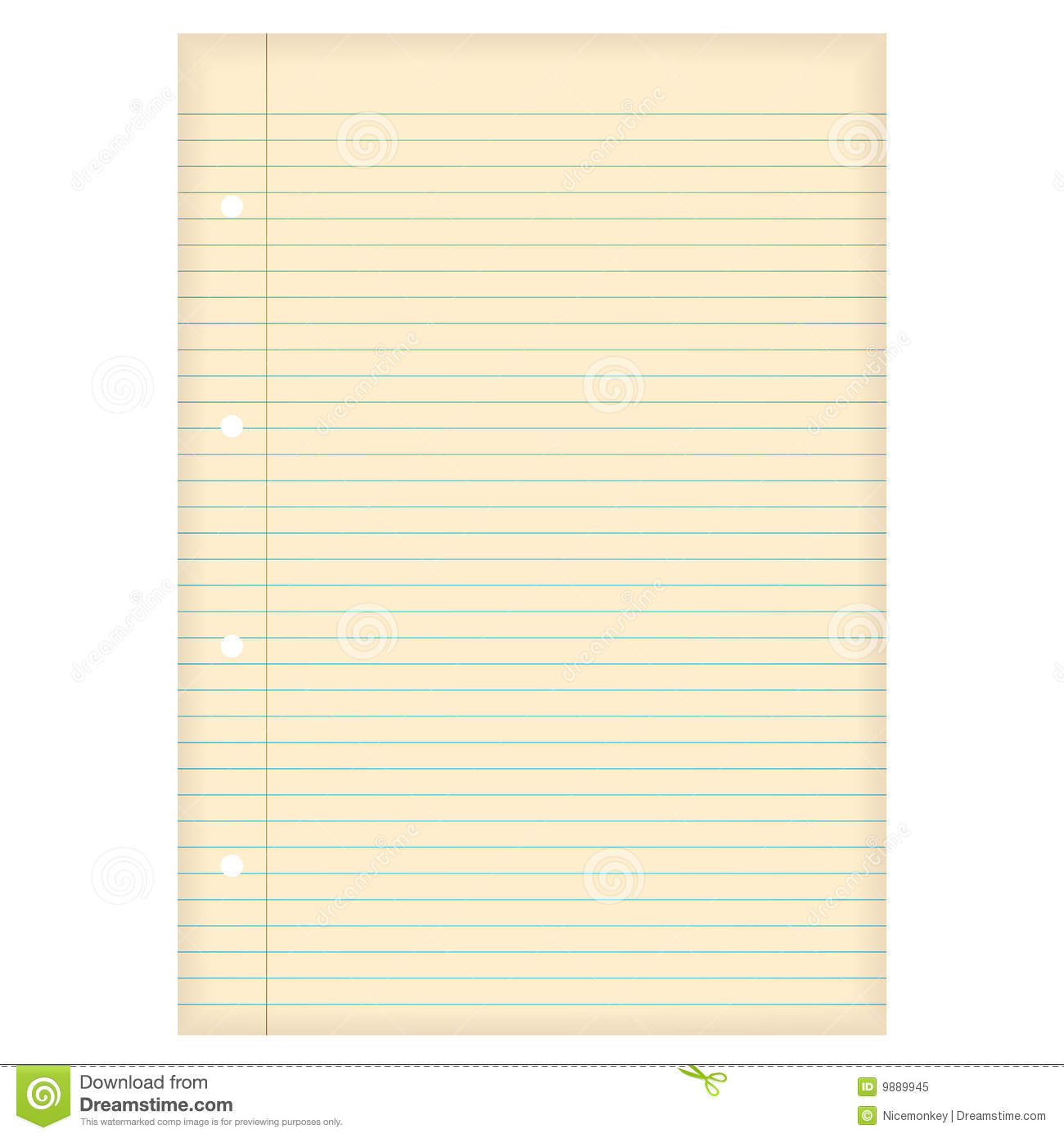 Aged Lined Paper Royalty Free Stock Photo - Image: 9889945