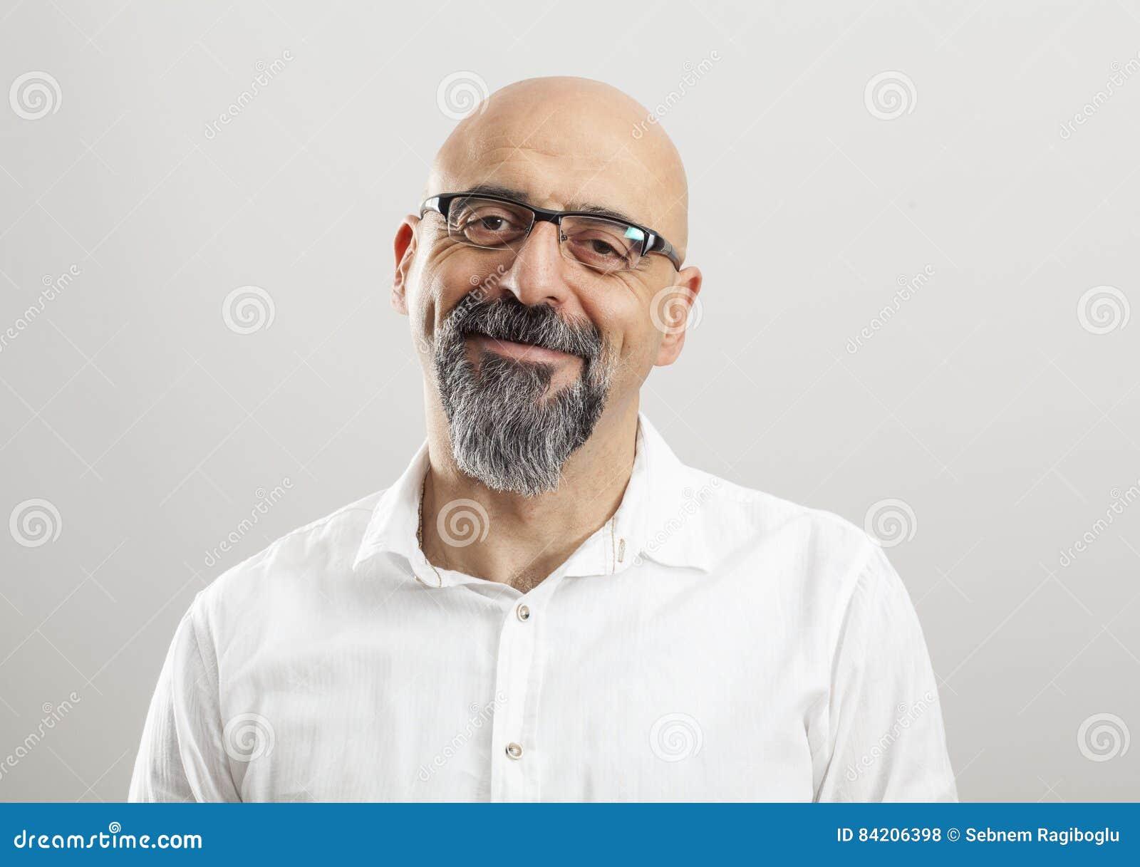 Aged man middle portrait