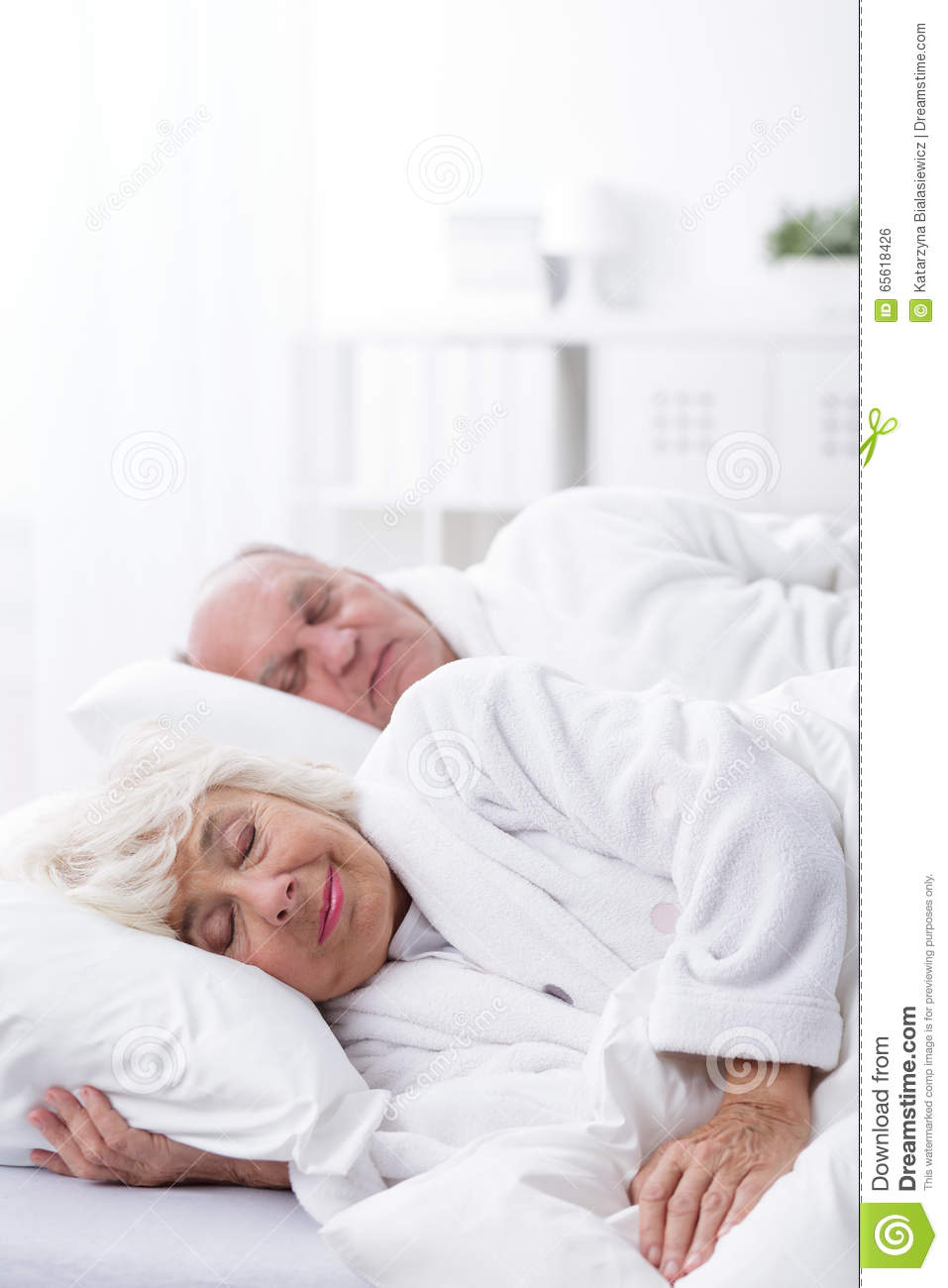 Aged Marriage Sleeping Together Stock Photo - Image of wife ...