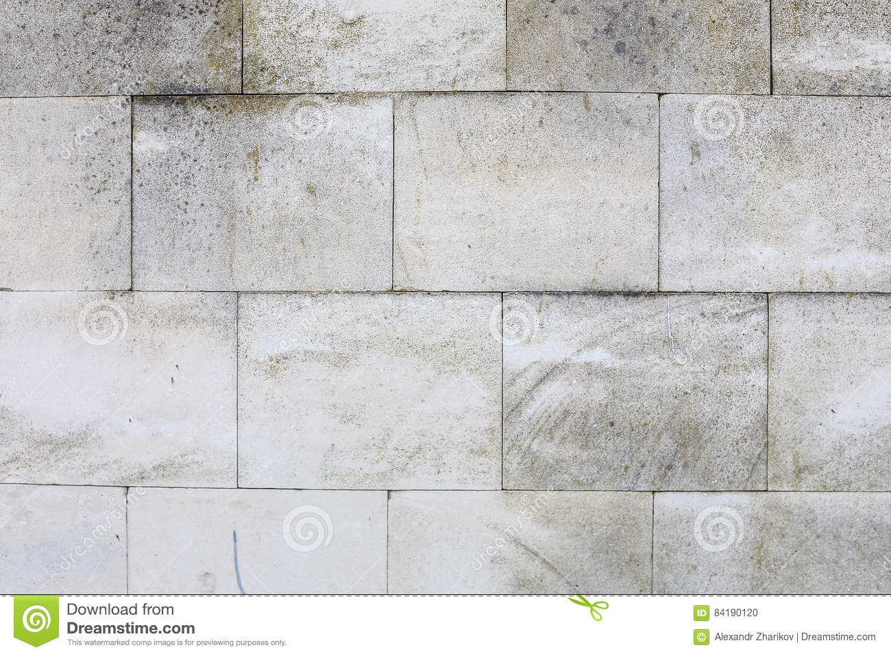 Aged Old Red White Gray Brick Wall Texture Destroyed Concrete Horizontal Background. Shabby Urban Messy Brickwall Structure. Stone
