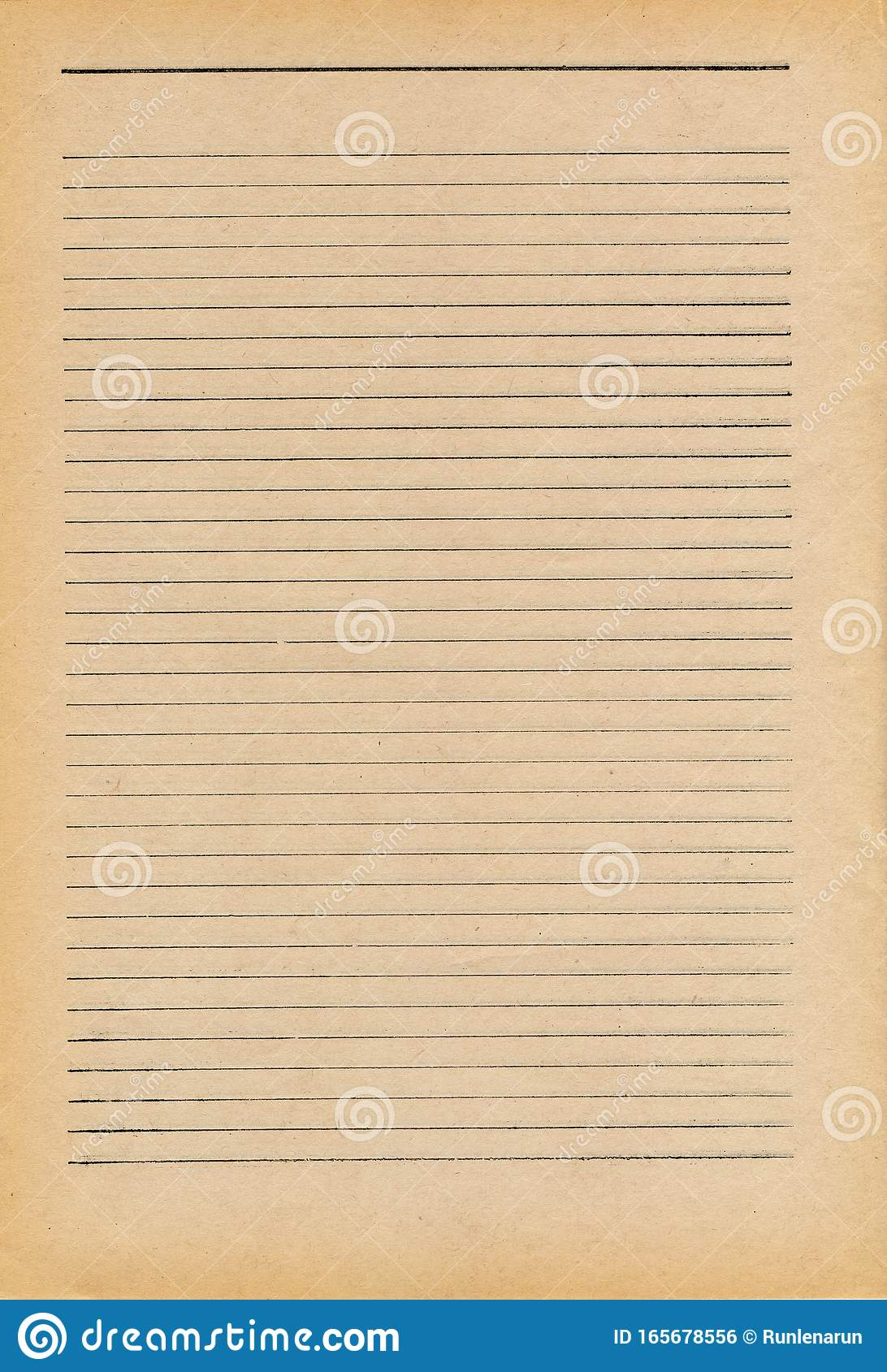 Aged Paper Texture Background Lined Letter Writing Paper ...