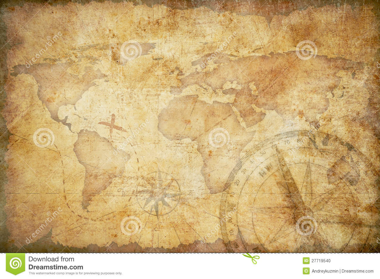 Aged treasure map background stock illustration illustration of aged treasure map background gumiabroncs Image collections