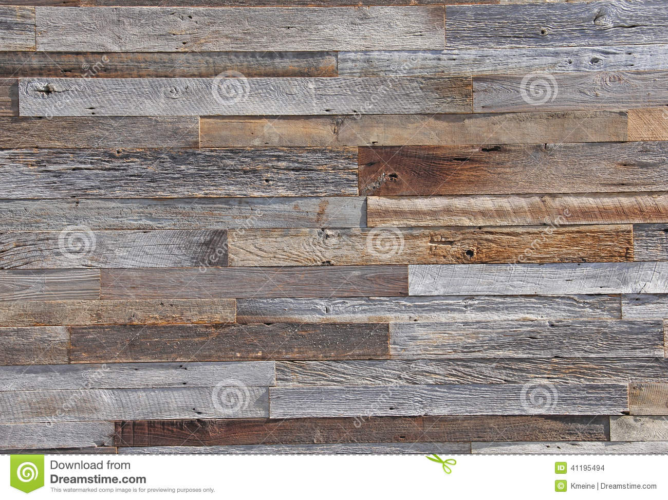 Aged Weather Wooden Paneling Boards On Exterior Wall