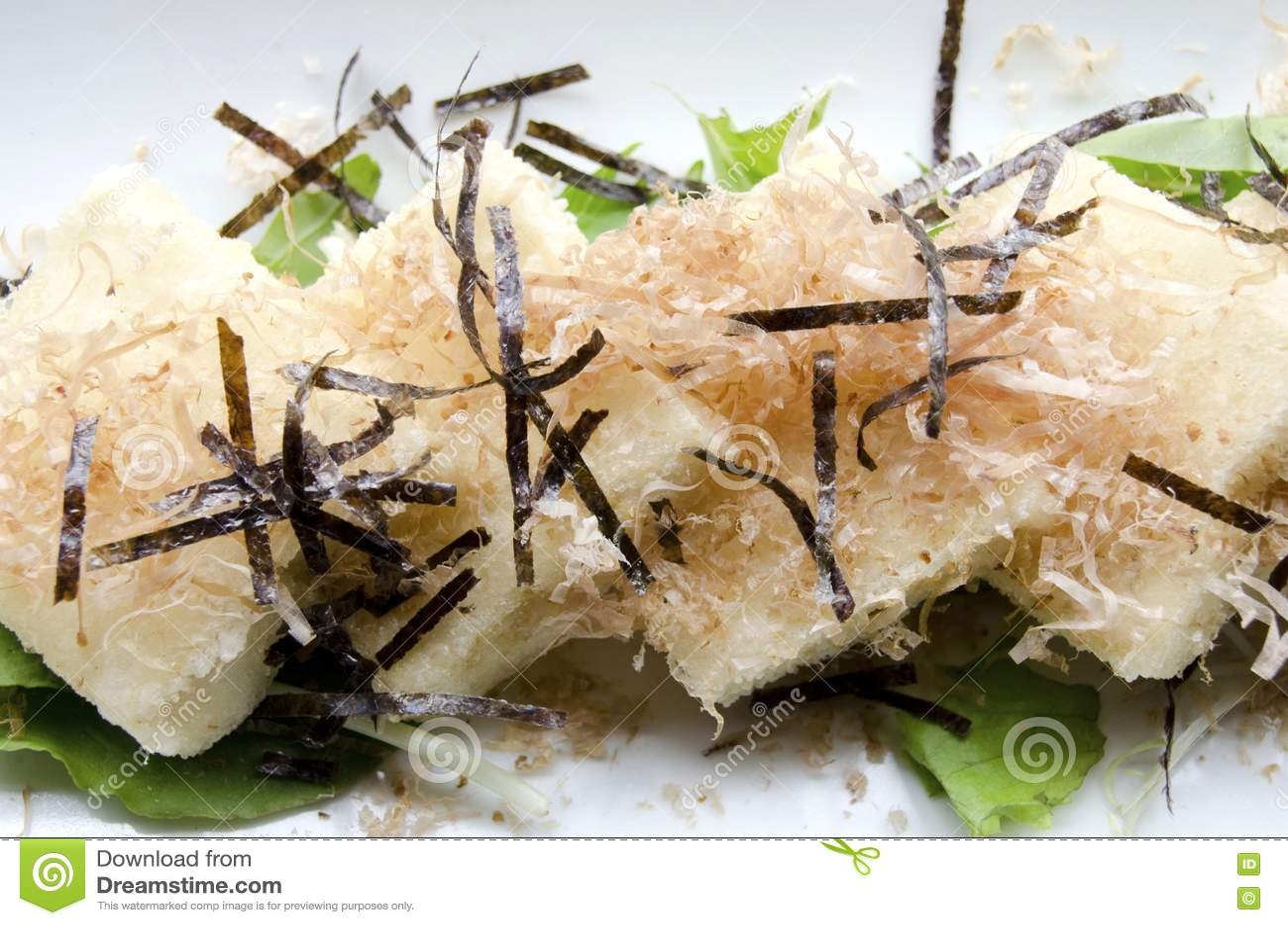 Agedashi Tofu stock image  Image of bonito, browned, silky