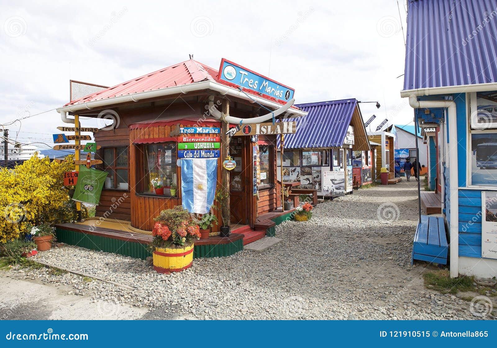 Agencias turísticas en Ushuaia, la capital de Tierra del Fuego, la Argentina