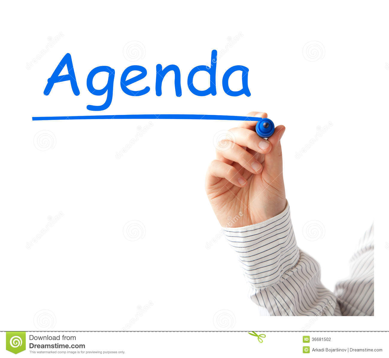 Draw Plan Agenda Stock Photography Image 36681502