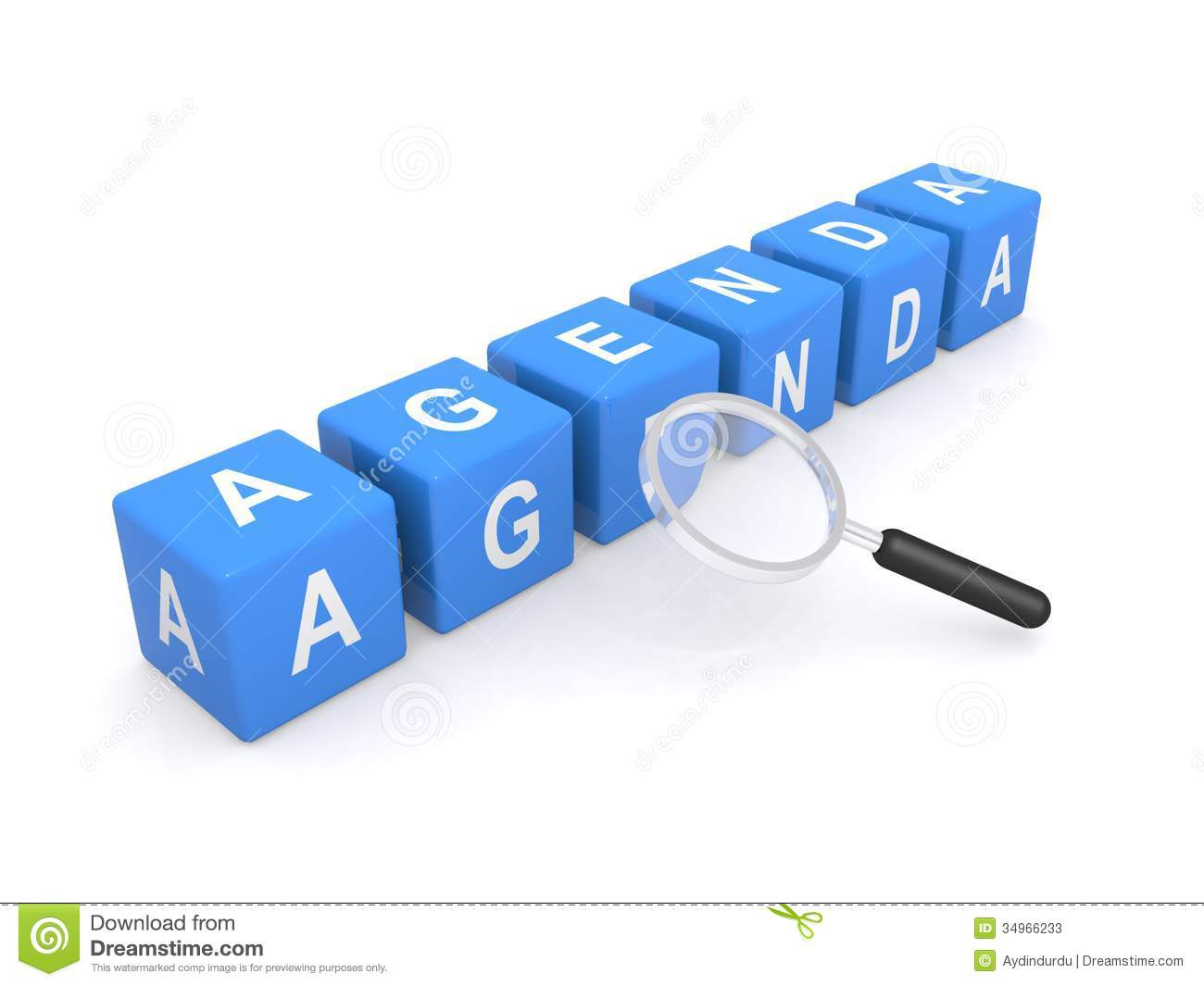 Agenda Sign With Magnifying Glass Photos Image 34966233 – Agenda Word
