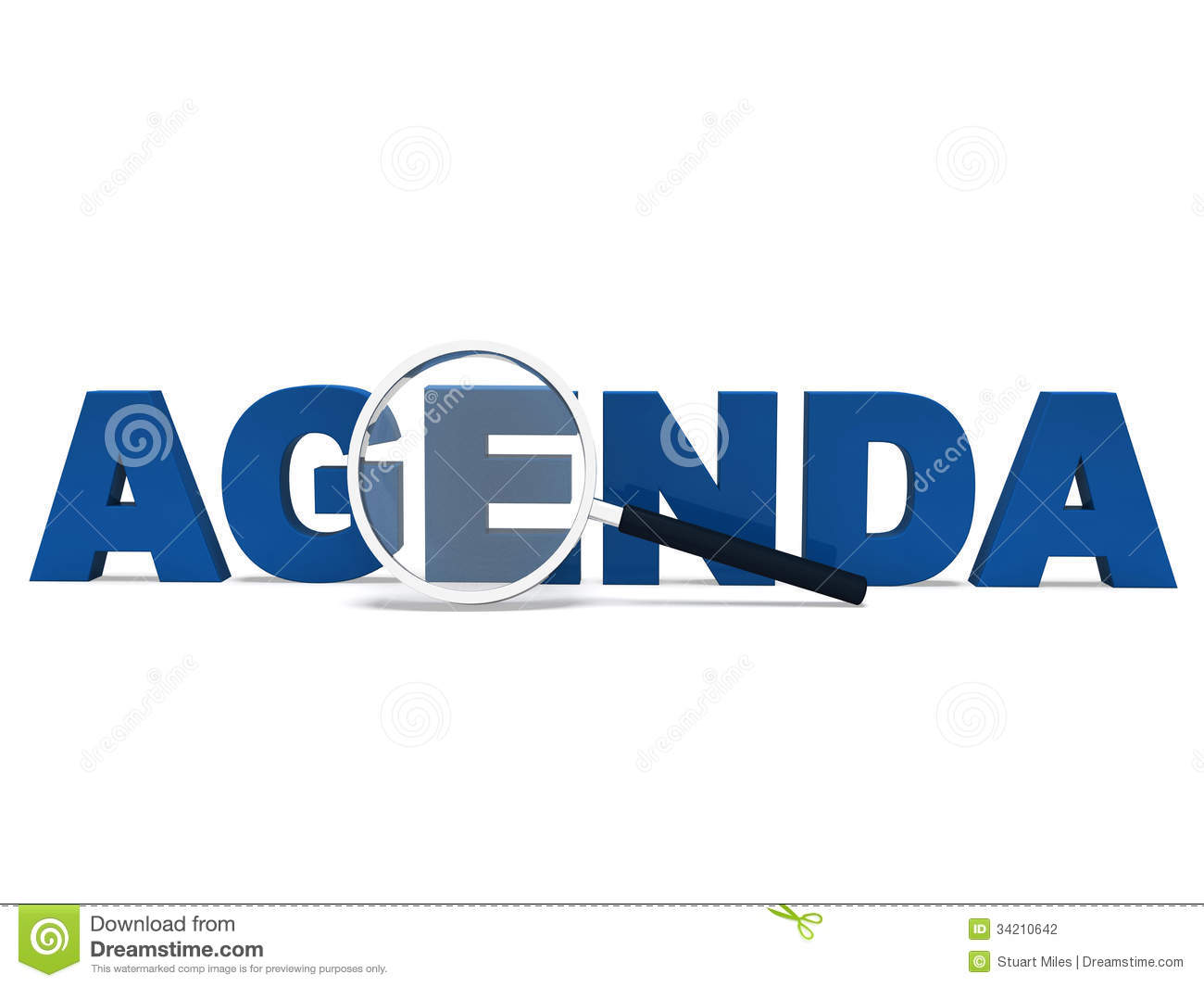 agenda word means to do schedule program stock