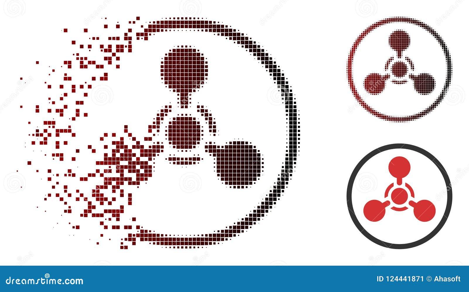Agente de nervio de semitono quebrado de Pixelated WMD Chemical Warfare Icon