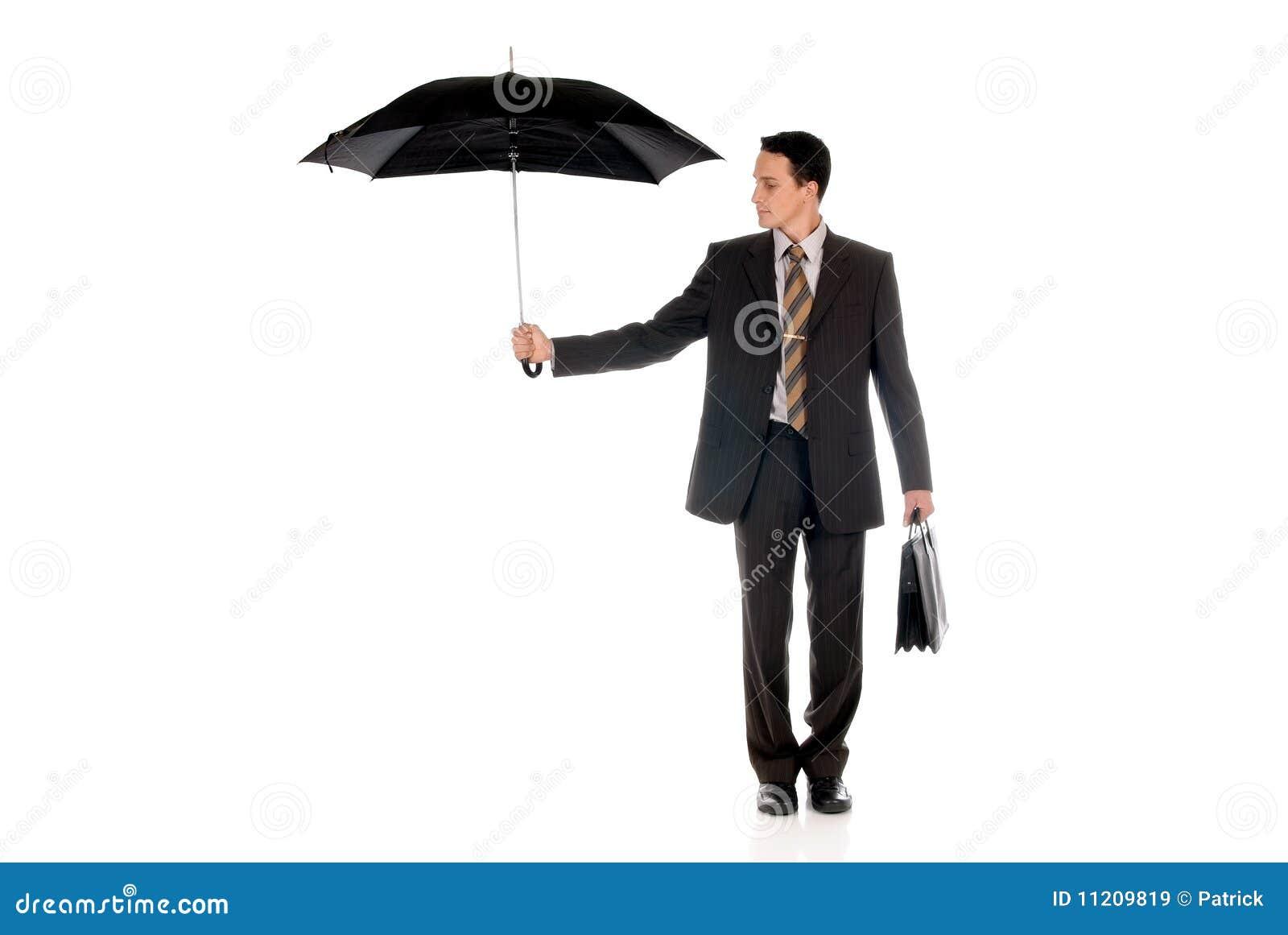 Agente de seguro del hombre de negocios