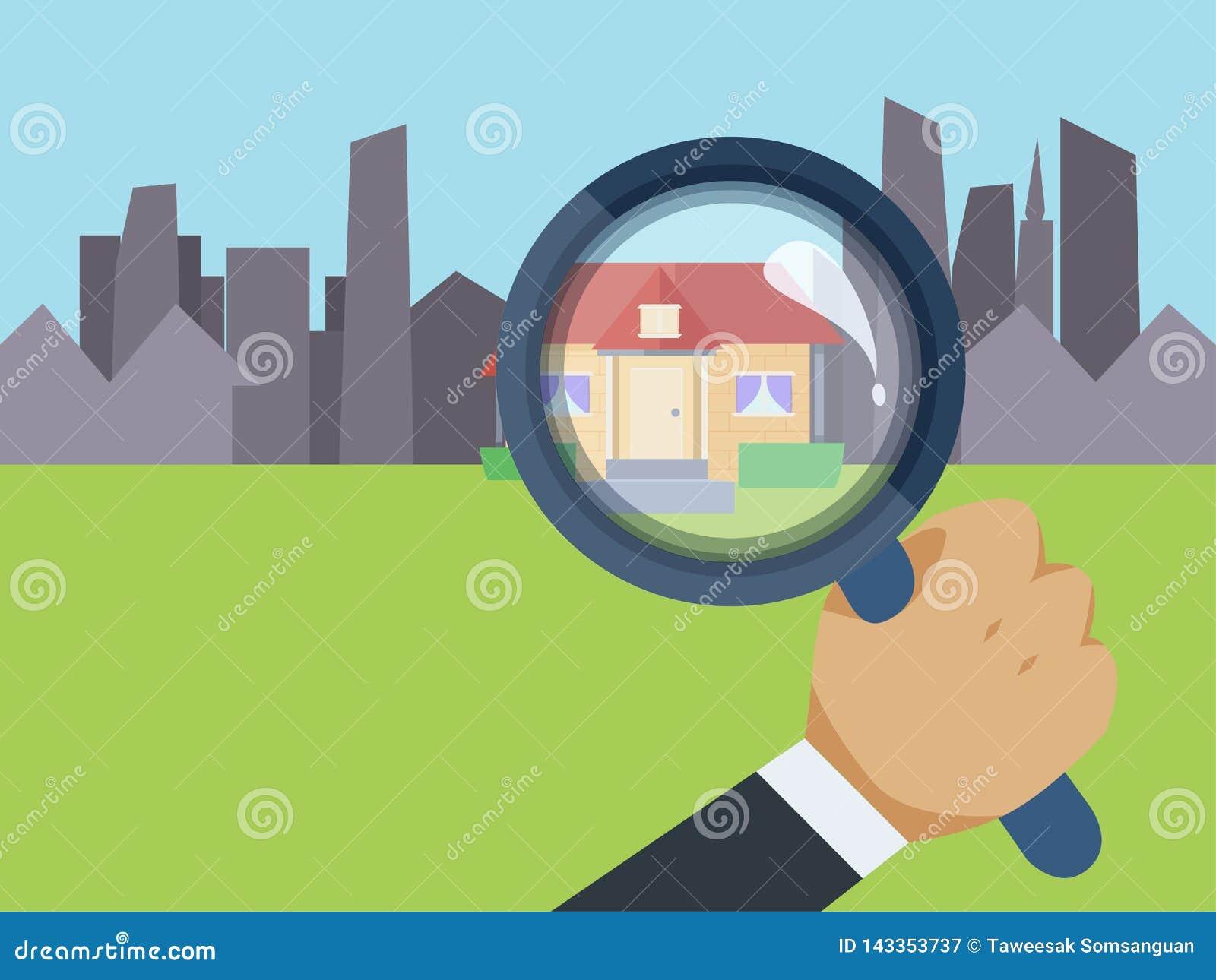 Agente inmobiliario que encuentra su hogar ideal