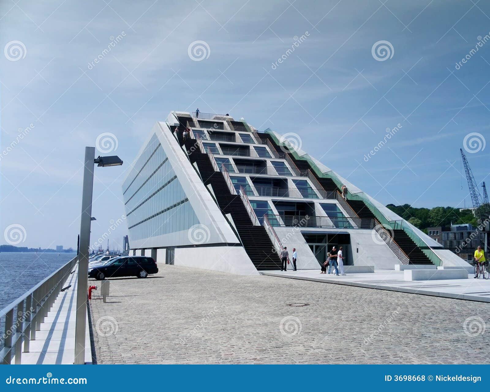 Treppe Hamburg agentur morgens hafen treppe stockfoto bild modern