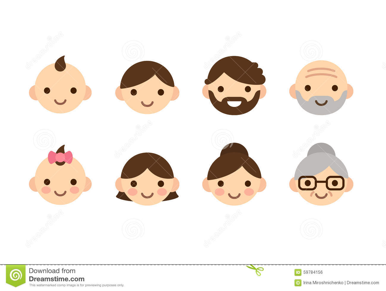 ages icons stock vector image 59784156 grandparent clipart photos free grandparent clipart photos free