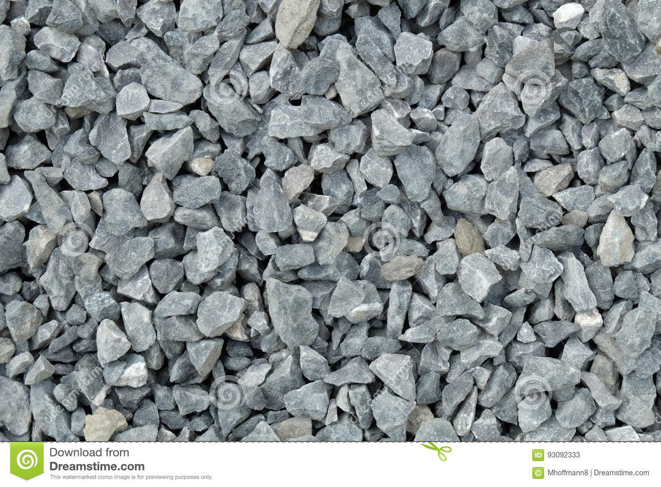 Aggregate / gravel pattern - a heap of coarse gray stones, crushed at a stone pit