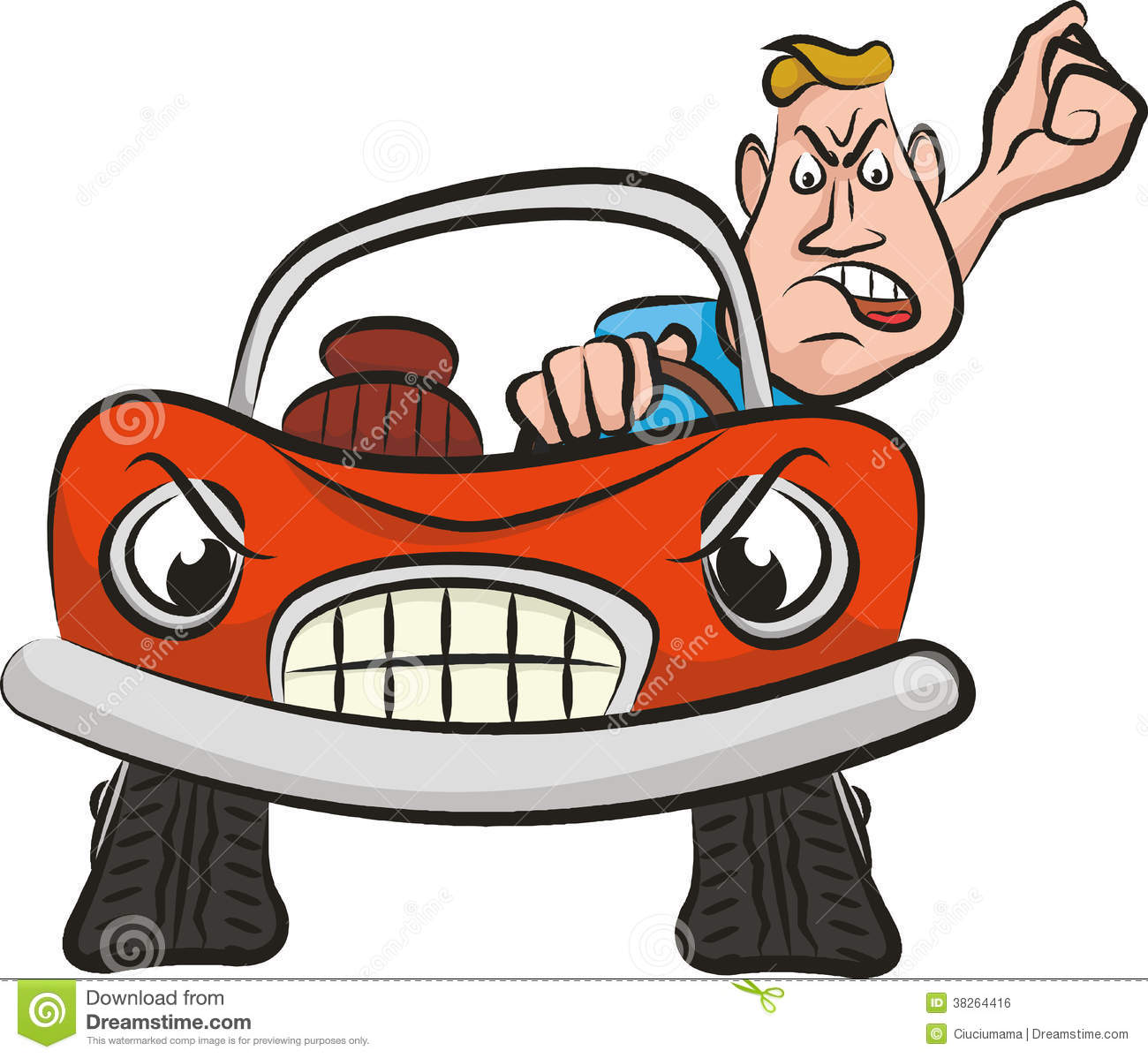 aggression on the road mad driver royalty free stock Smashed Car Clip Art Car Accident Clip Art