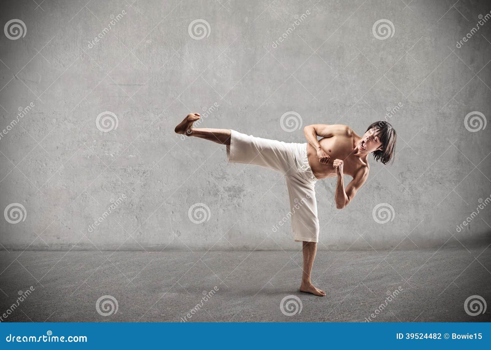 Martial arts naked Asian