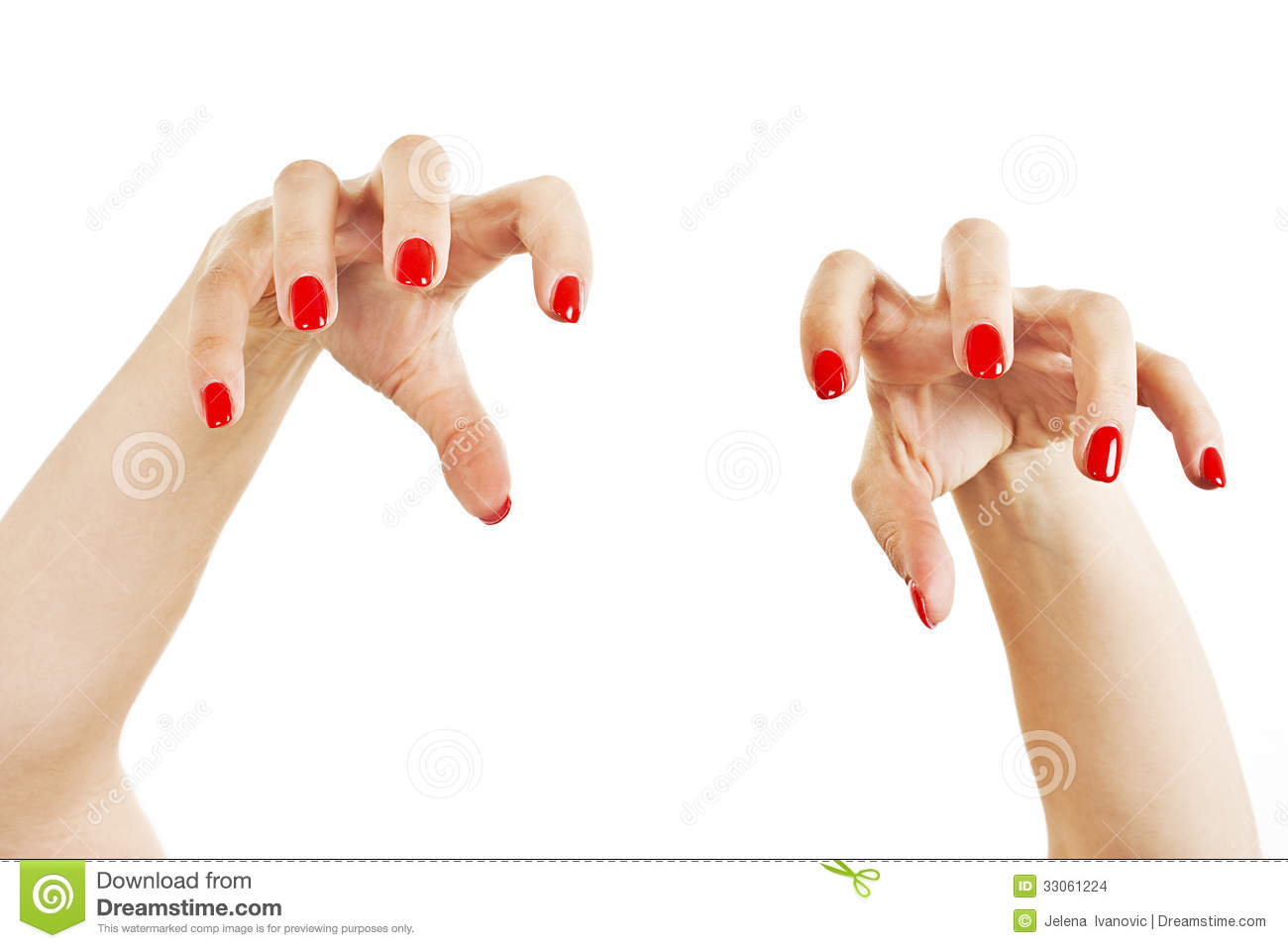 aggressive girl hands with long red nails stock photo image of