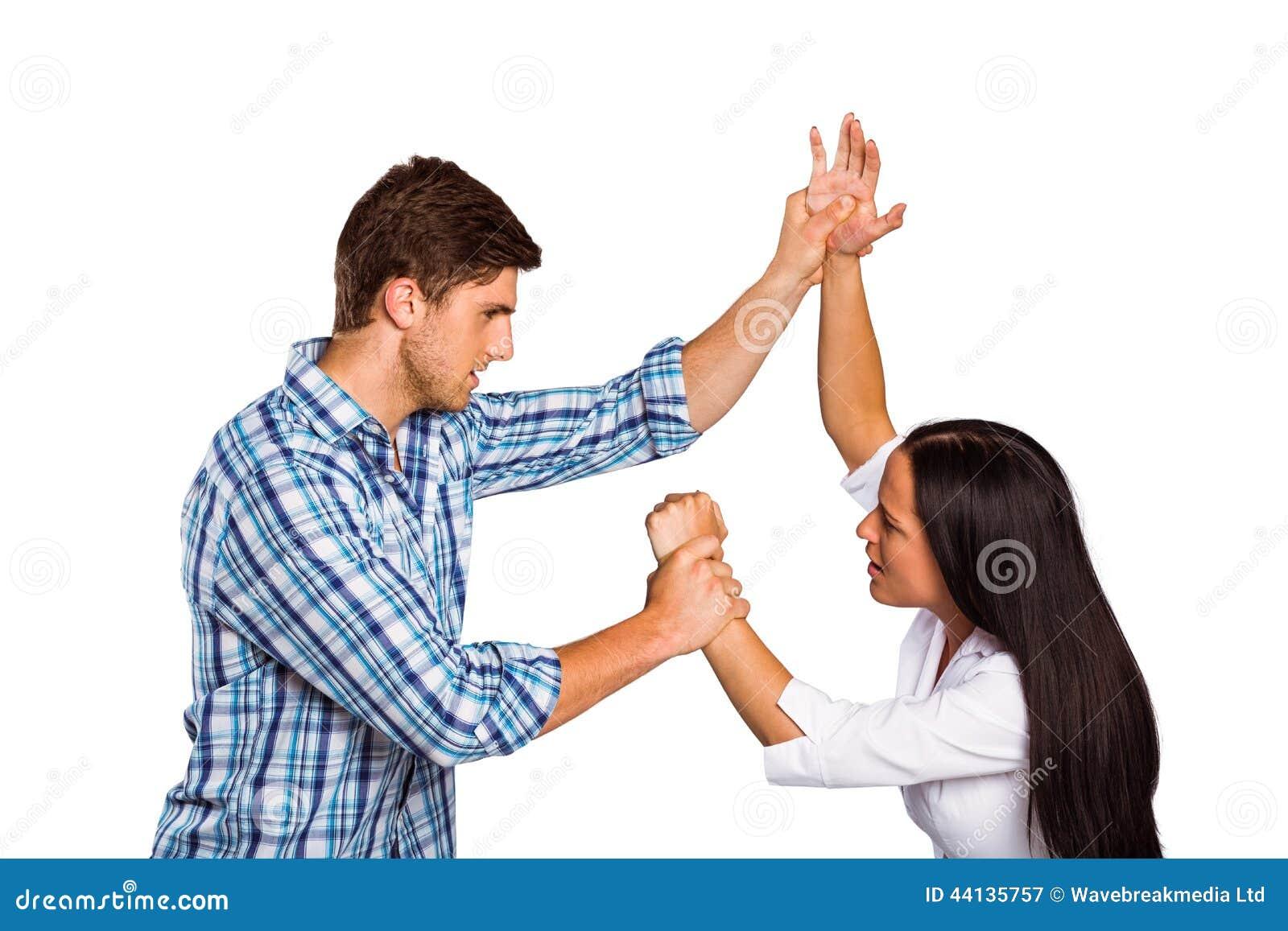 Women Overpowering Man 32