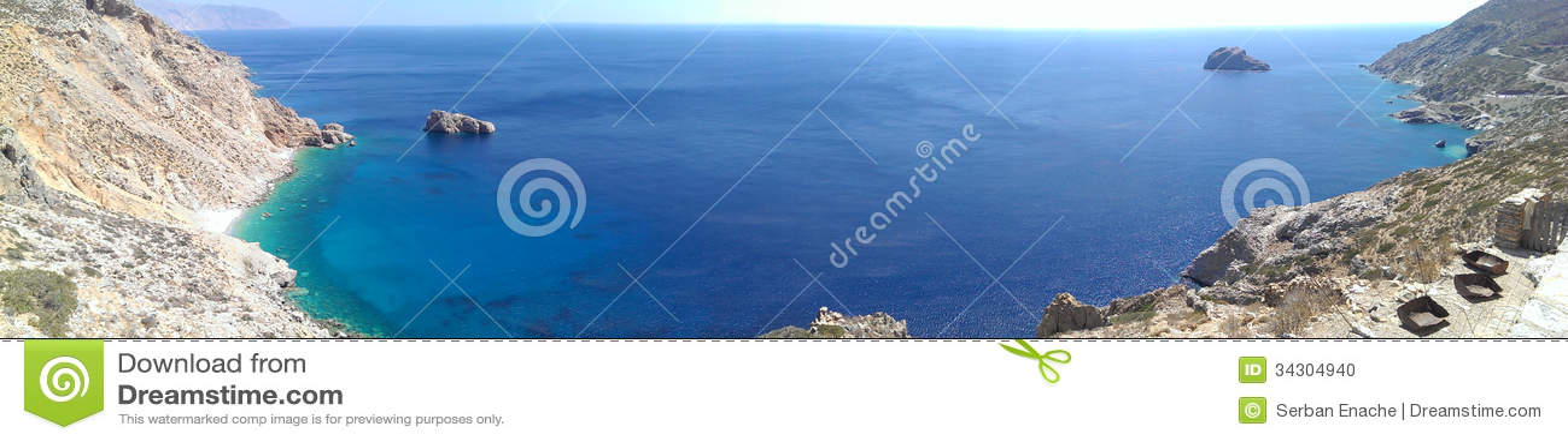 Agia Anna bay view