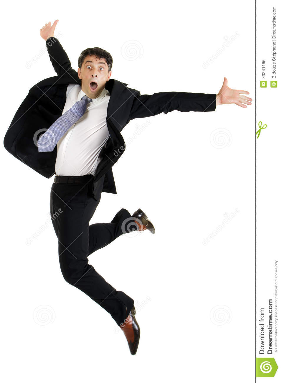 Free Stock Photo: Agile Businessman Leaping Royalty Free Stock Image