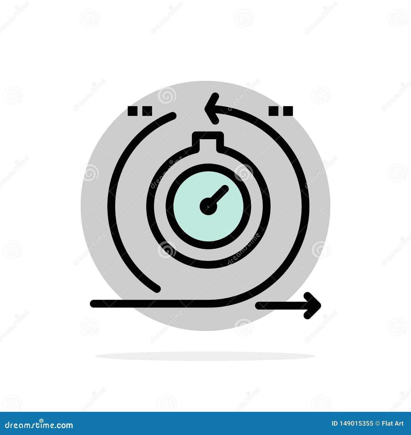 Agile, cycle, développement, rapide, icône plate de couleur de fond abstrait de cercle d itération