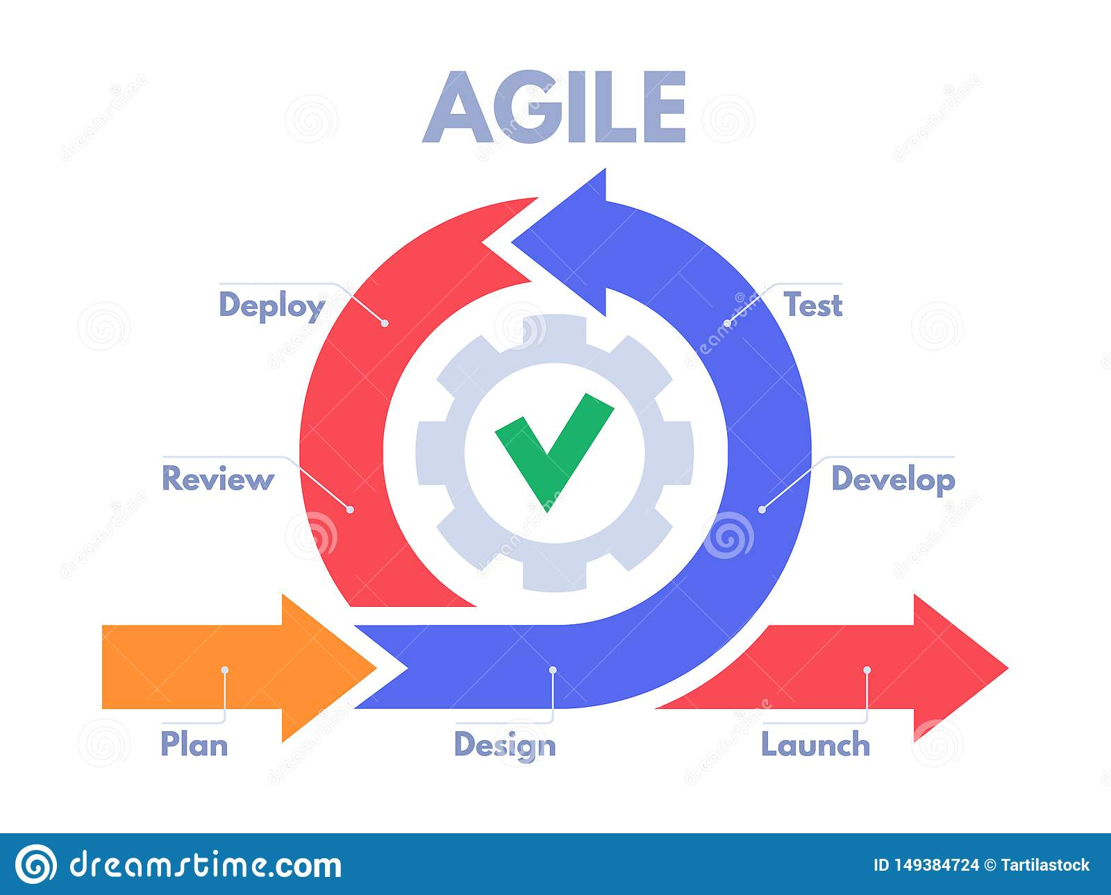 Agile Development Process Infographic  Software Developers