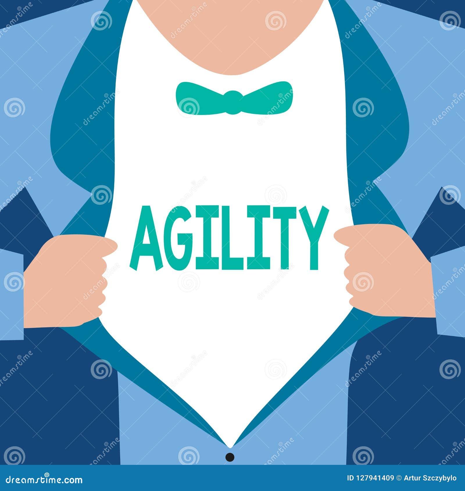 Agilité des textes d écriture de Word Le concept d affaires pour que la capacité se déplace pensent comprennent rapidement et fac