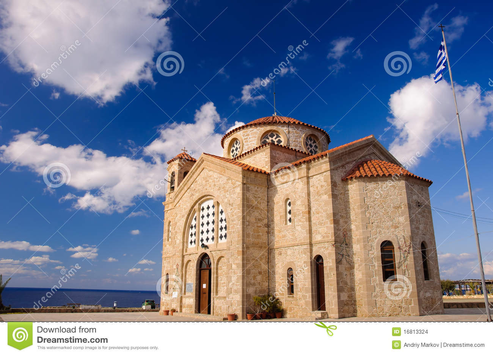 Agios Georgios Church Stock Images - Image: 16813324