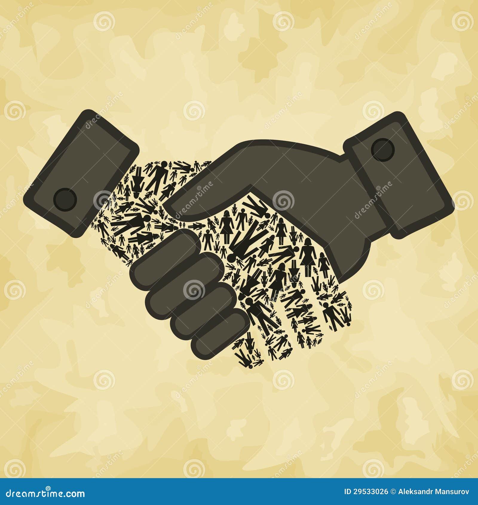 Agitação da mão da pessoa
