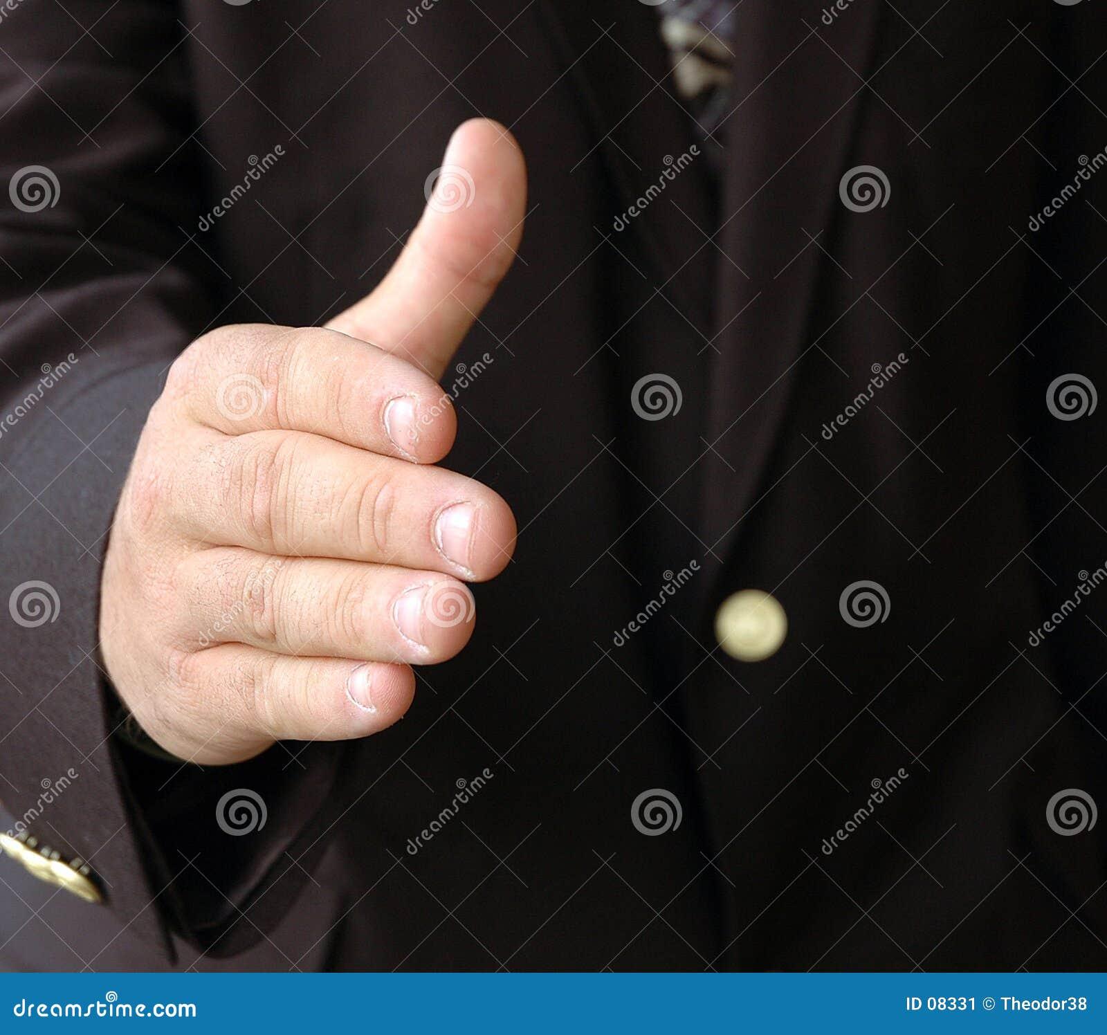 Agitação da mão do homem de negócios