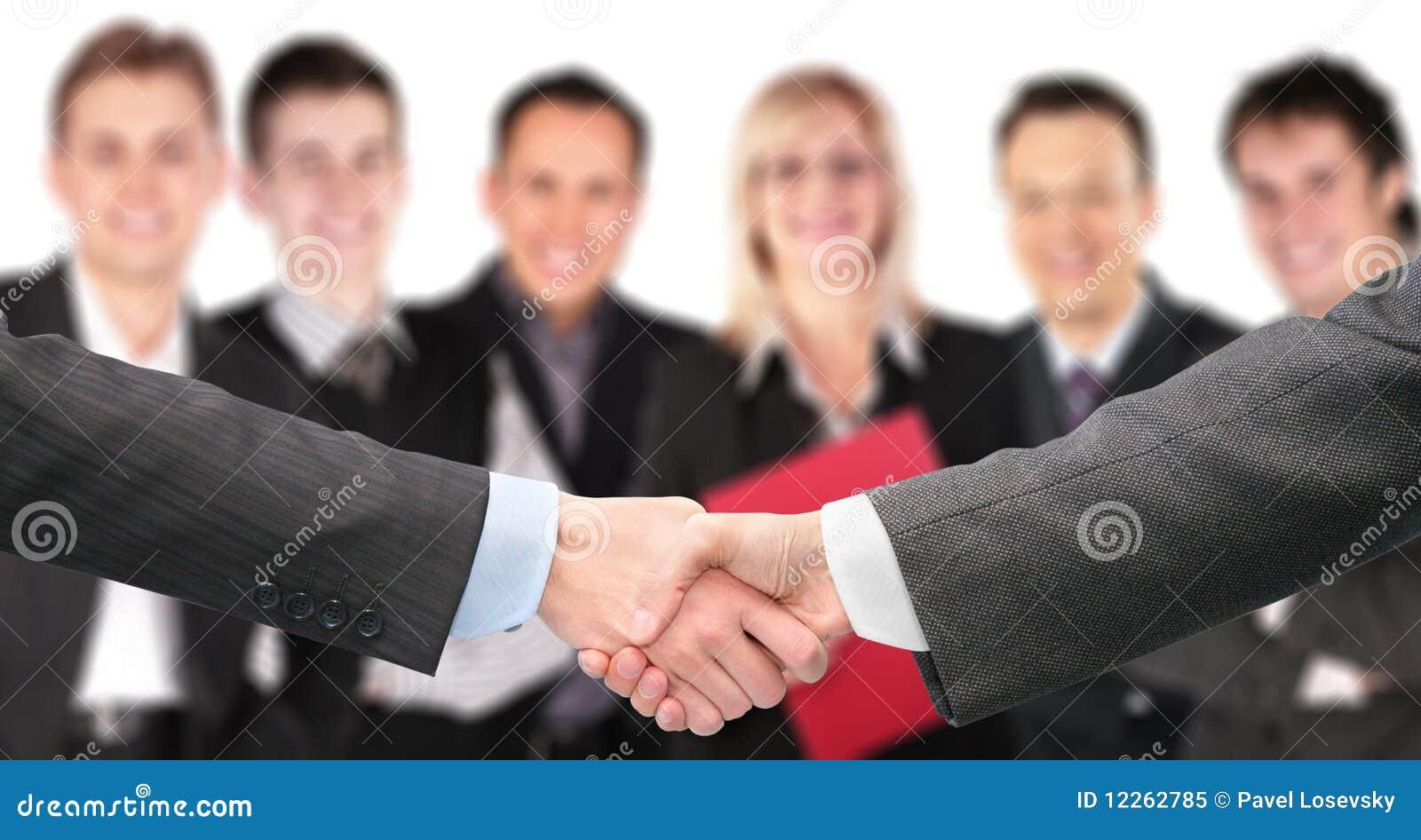 Agitando as mãos e a unidade de negócio fora de foco