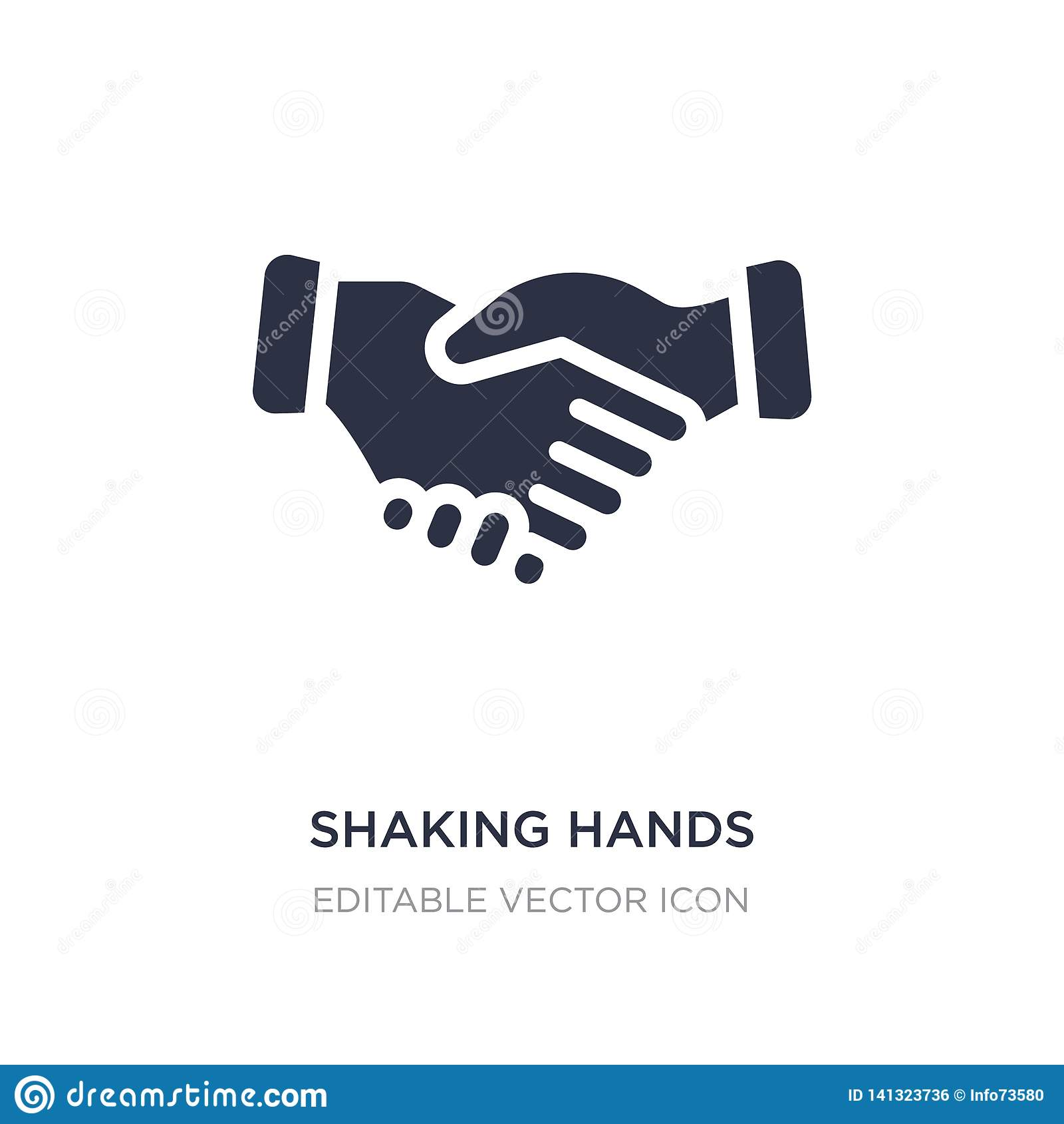Agitando o ícone das mãos no fundo branco Ilustração simples do elemento do conceito do negócio