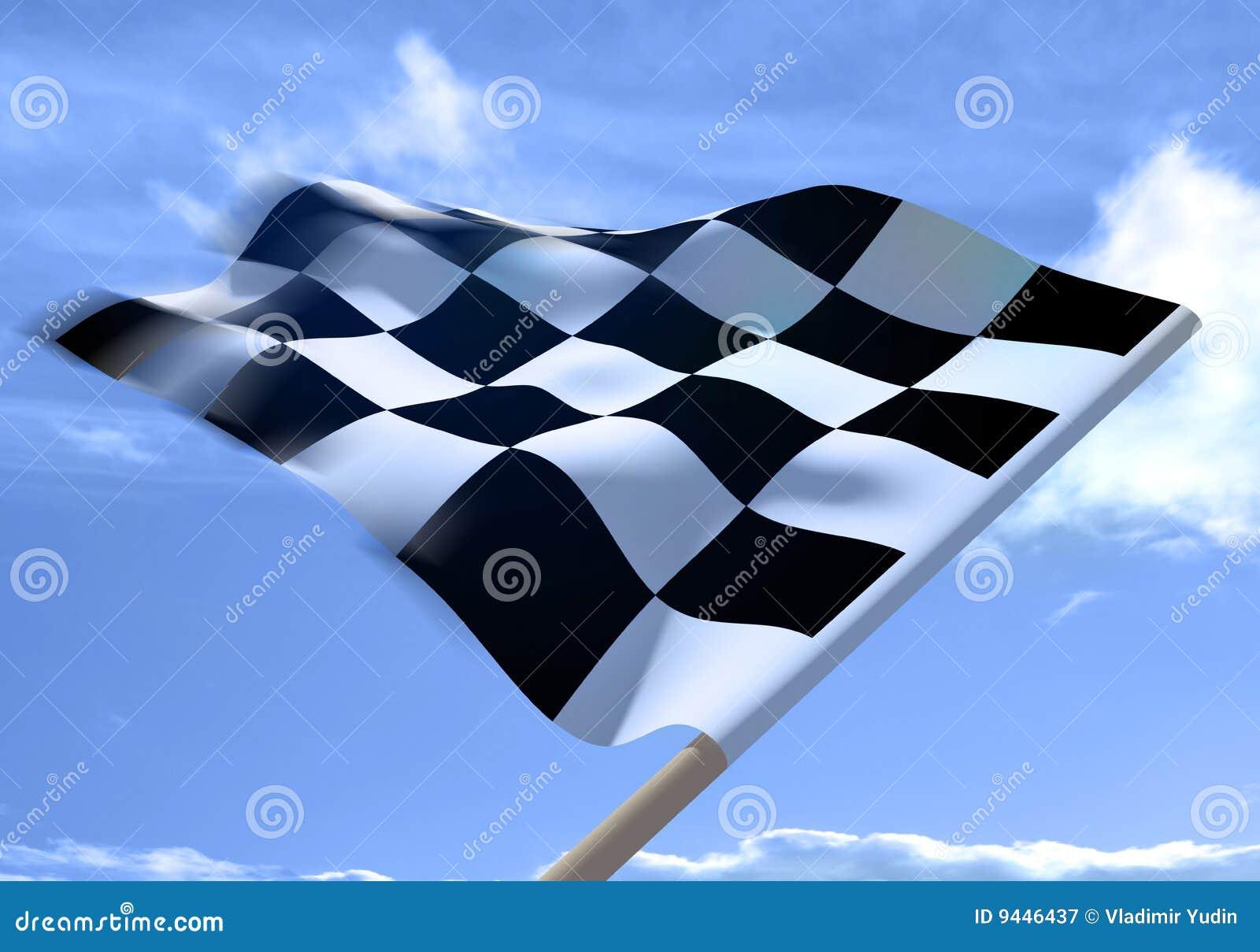 Agitar un indicador checkered