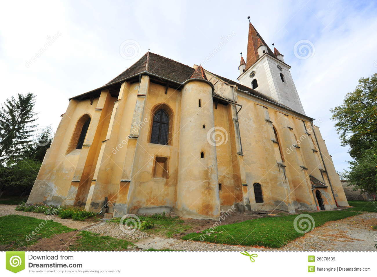 Agnita Fortified Church Transylvania Romania Royalty Free Stock